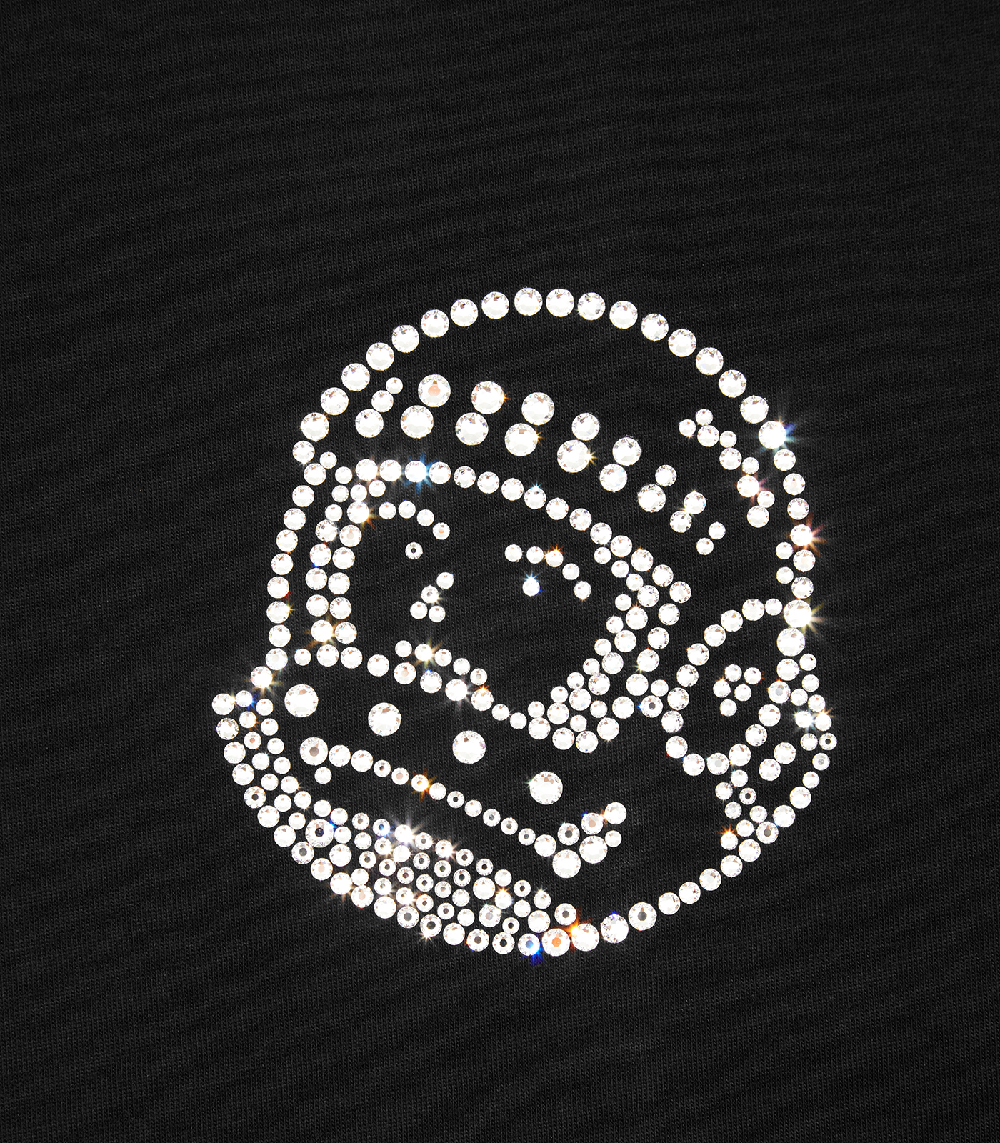 ASTRO HELMET T-SHIRT embellished with Swarovski® Crystals - BLACK