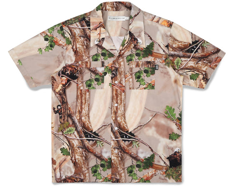 Billionaire Boys Club Fall '19 TREE CAMO BOWLING SHIRT - SAND