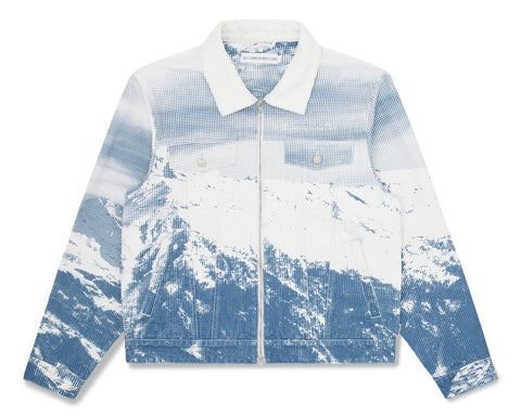Billionaire Boys Club Pre-Spring '20 MOUNTAIN ZIP DENIM JACKET - WHITE