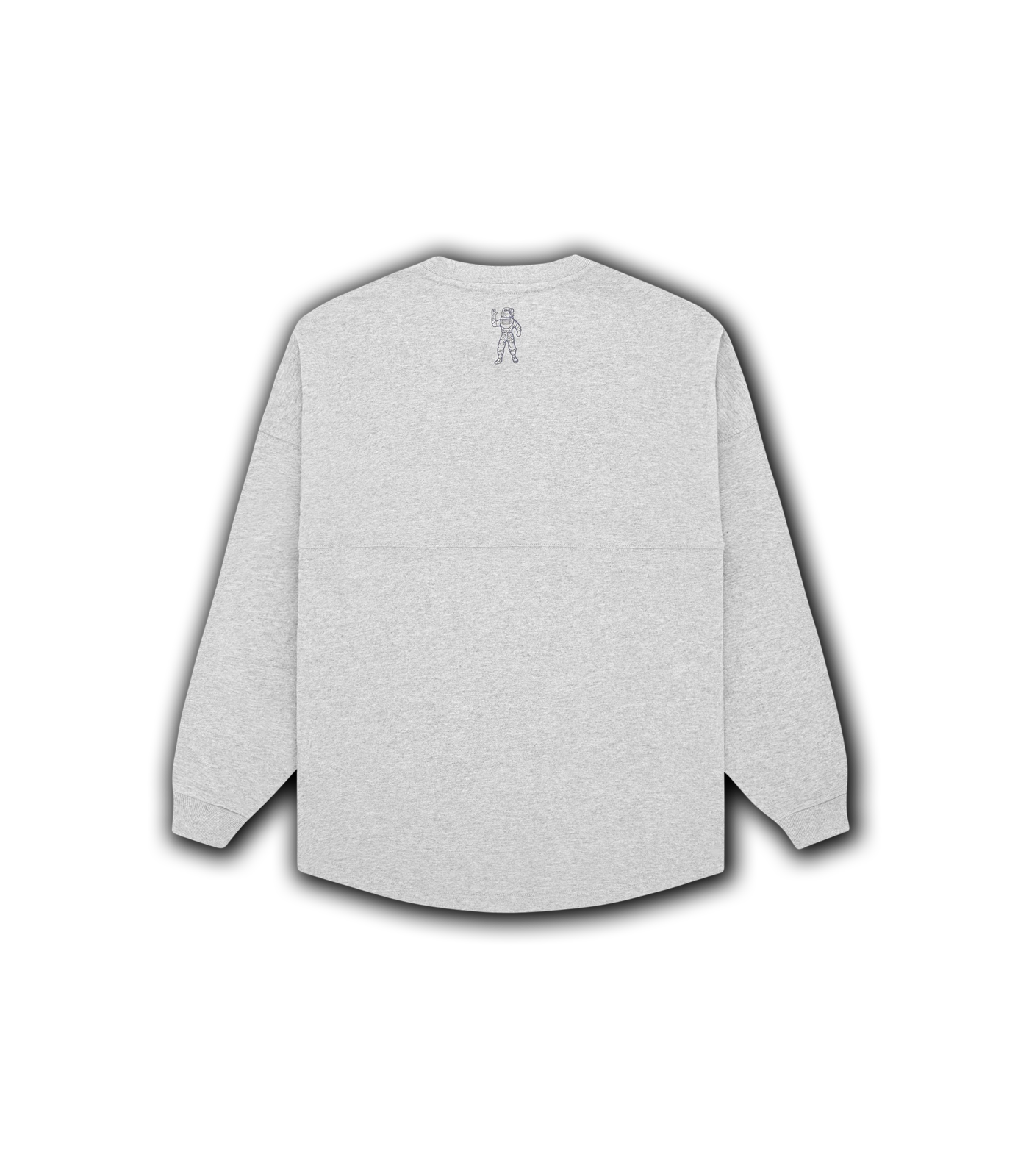 RUBBER PATCH L/S T-SHIRT - HEATHER GREY