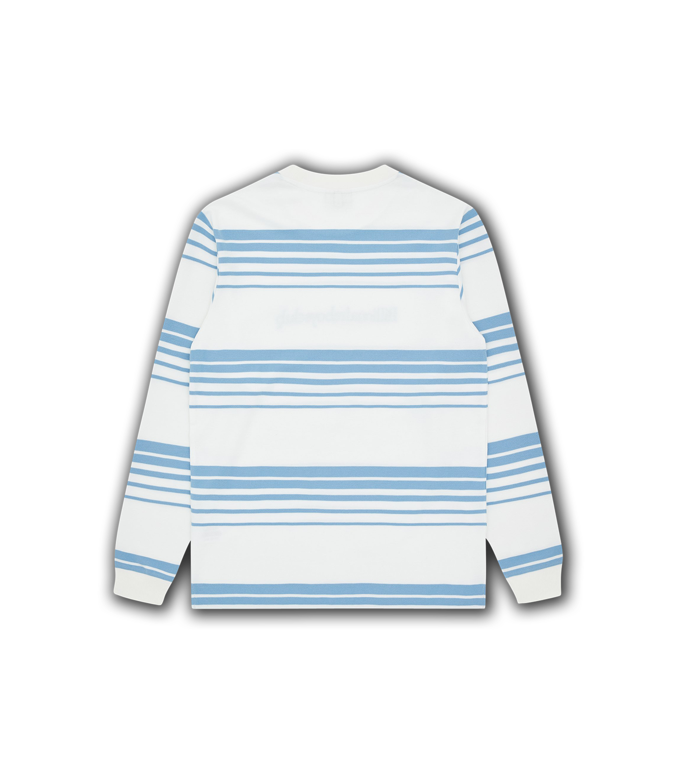 STRIPE KNIT L/S T-SHIRT - WHITE