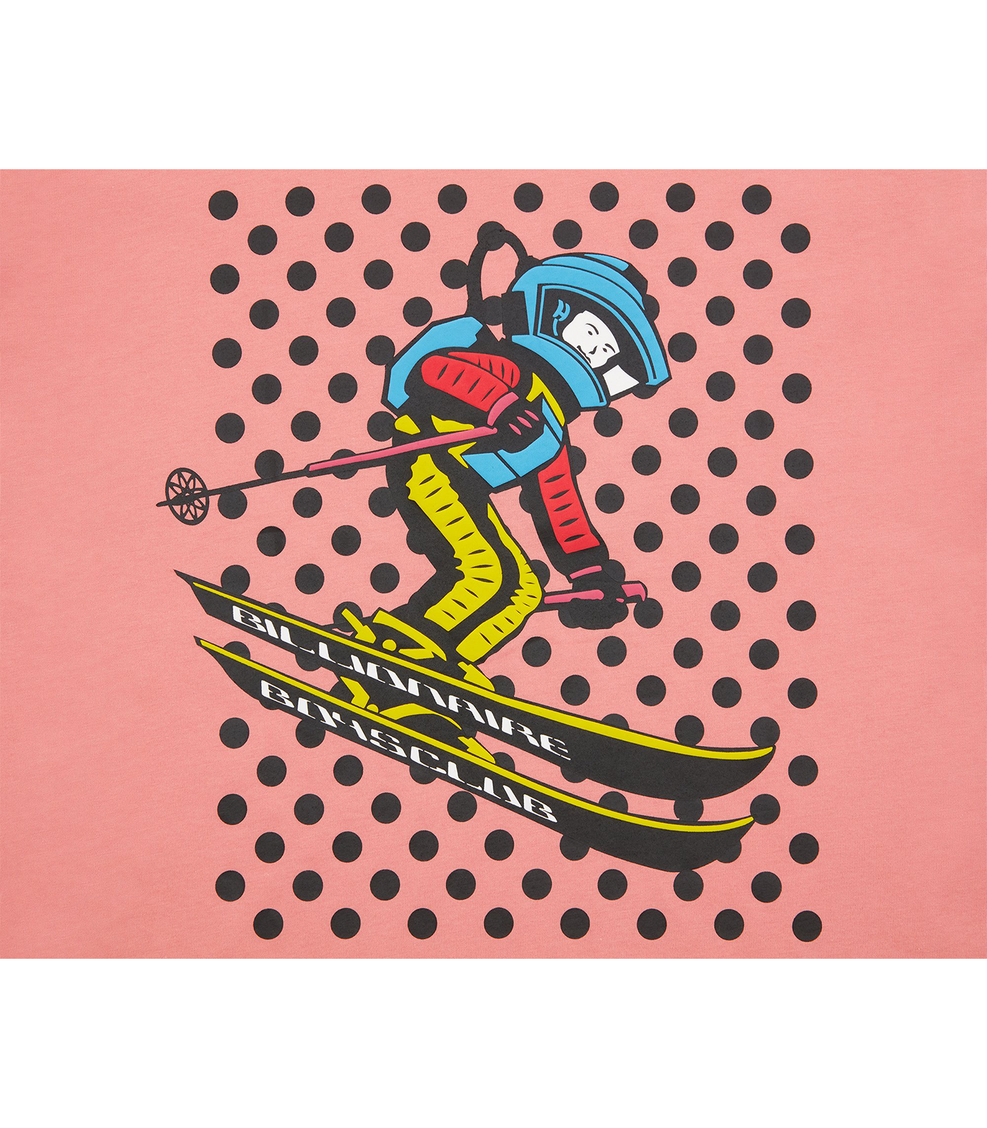 SPACE SKI GRAPHIC T-SHIRT - PINK
