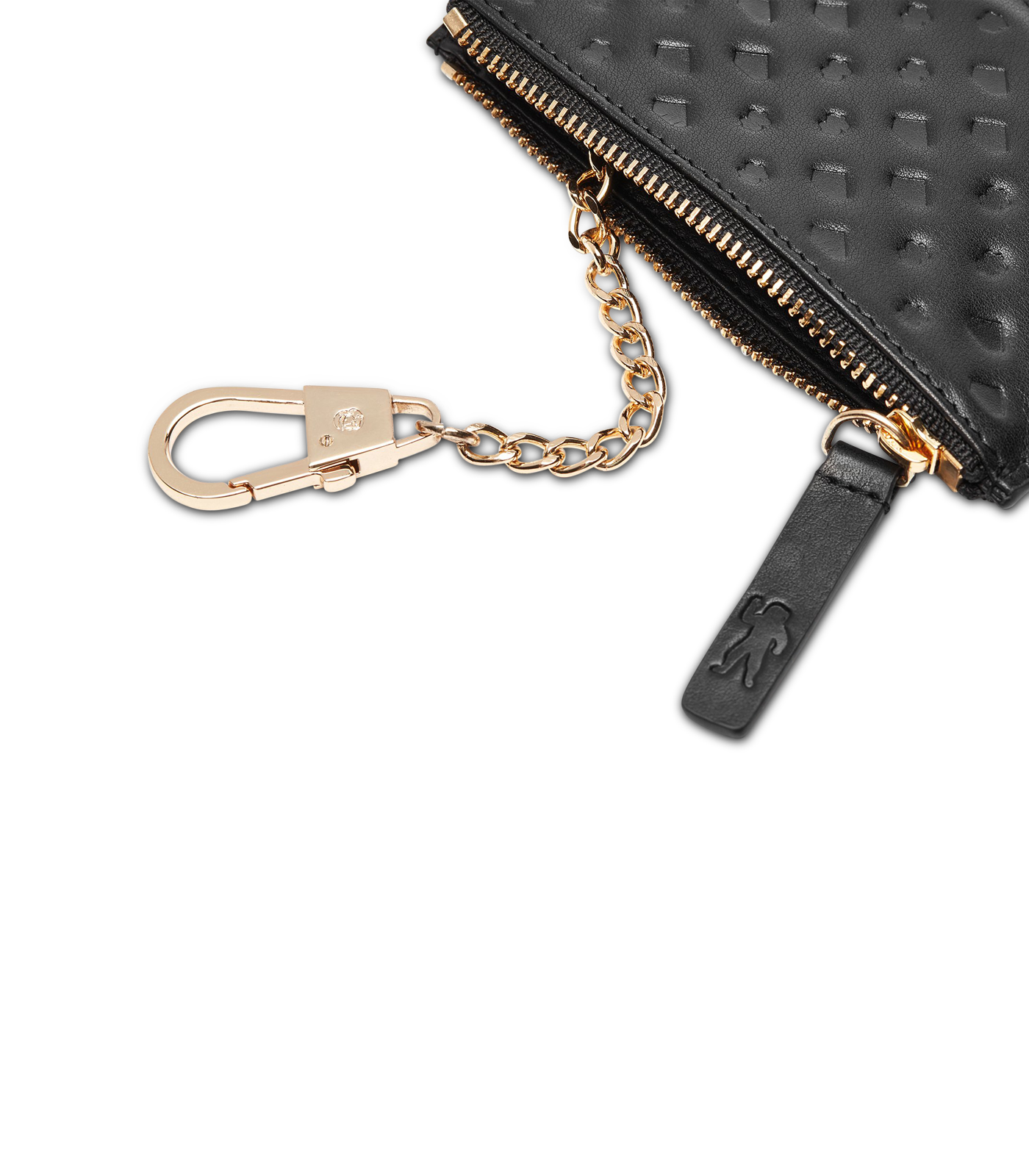 DIAMONDS AND DOLLARS LEATHER KEY POUCH