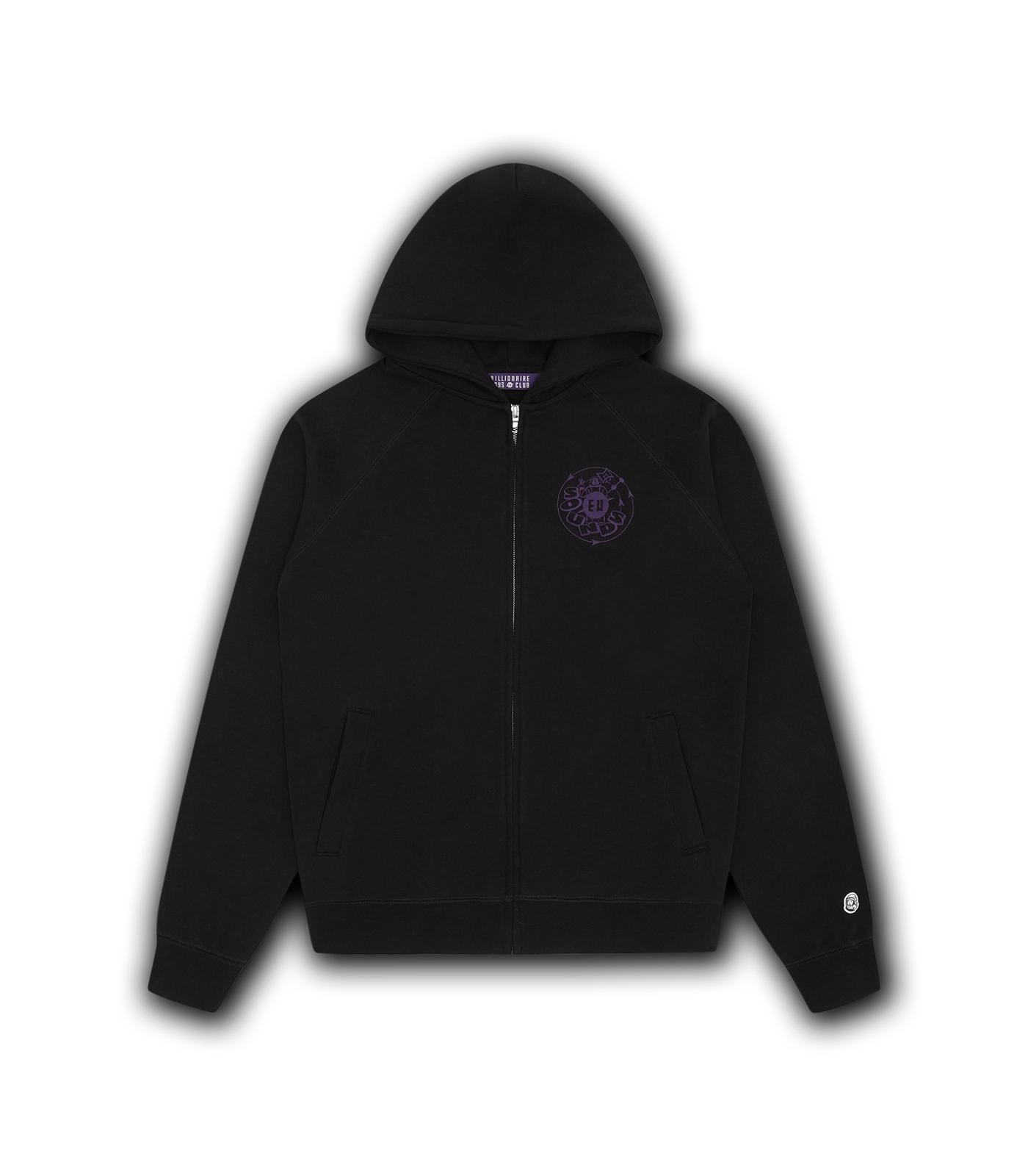EU SOUNDS ZIP THROUGH HOOD - BLACK