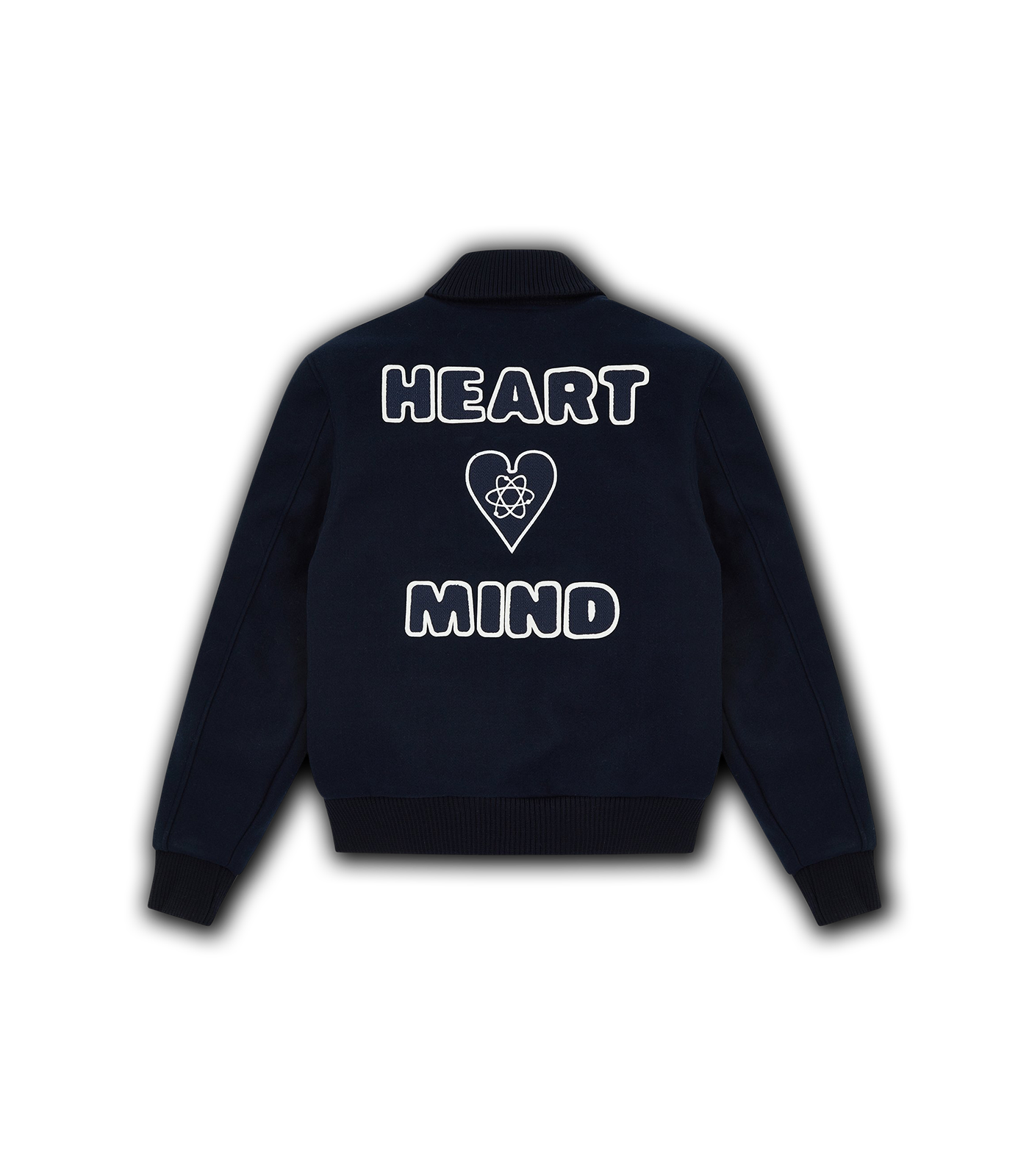 HEART & MIND VARSITY JACKET - NAVY
