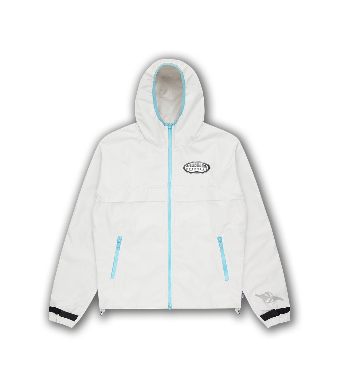 HOODED WINDBREAKER - WHITE