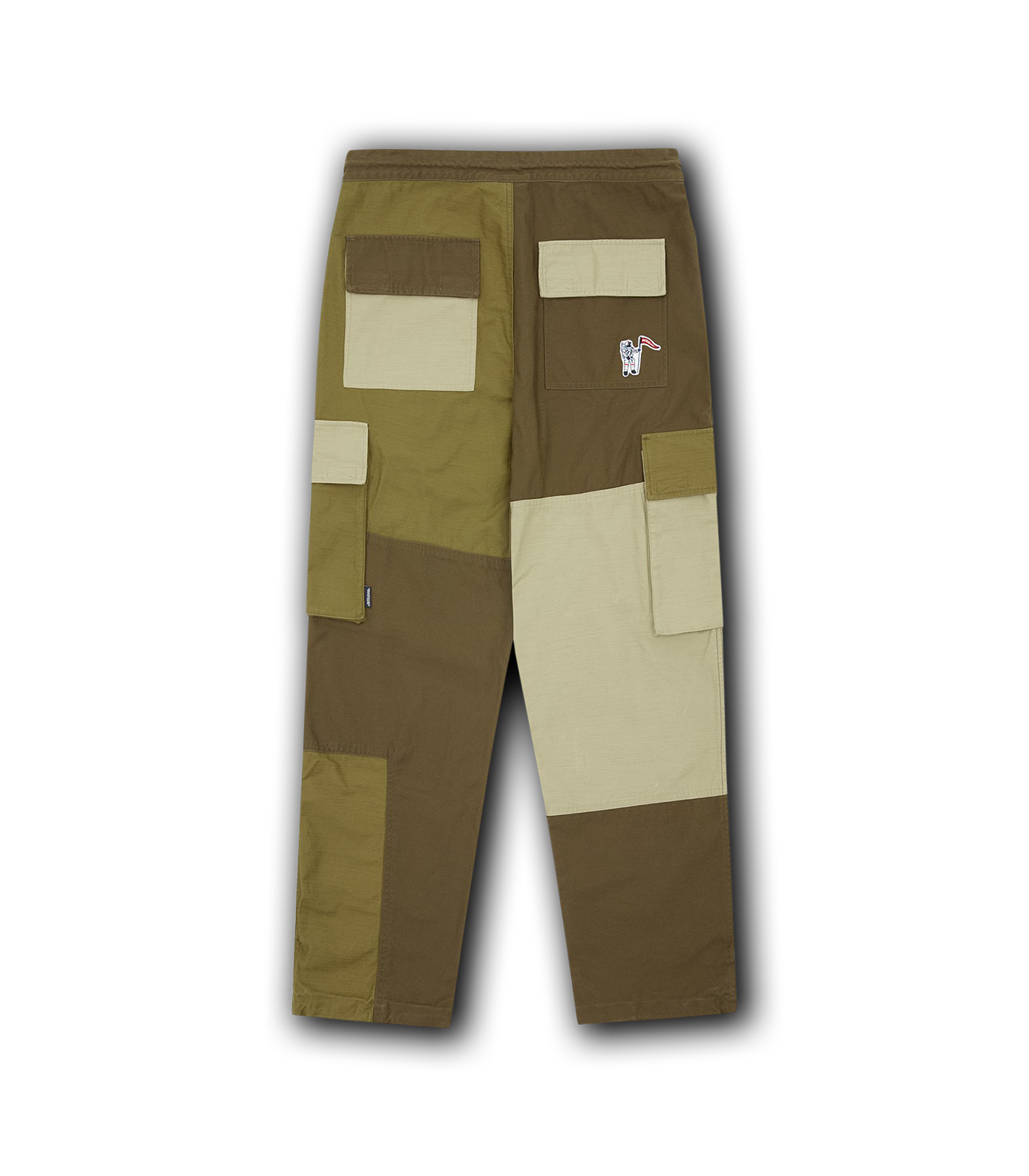 PATCHWORK CARGO PANT - OLIVE