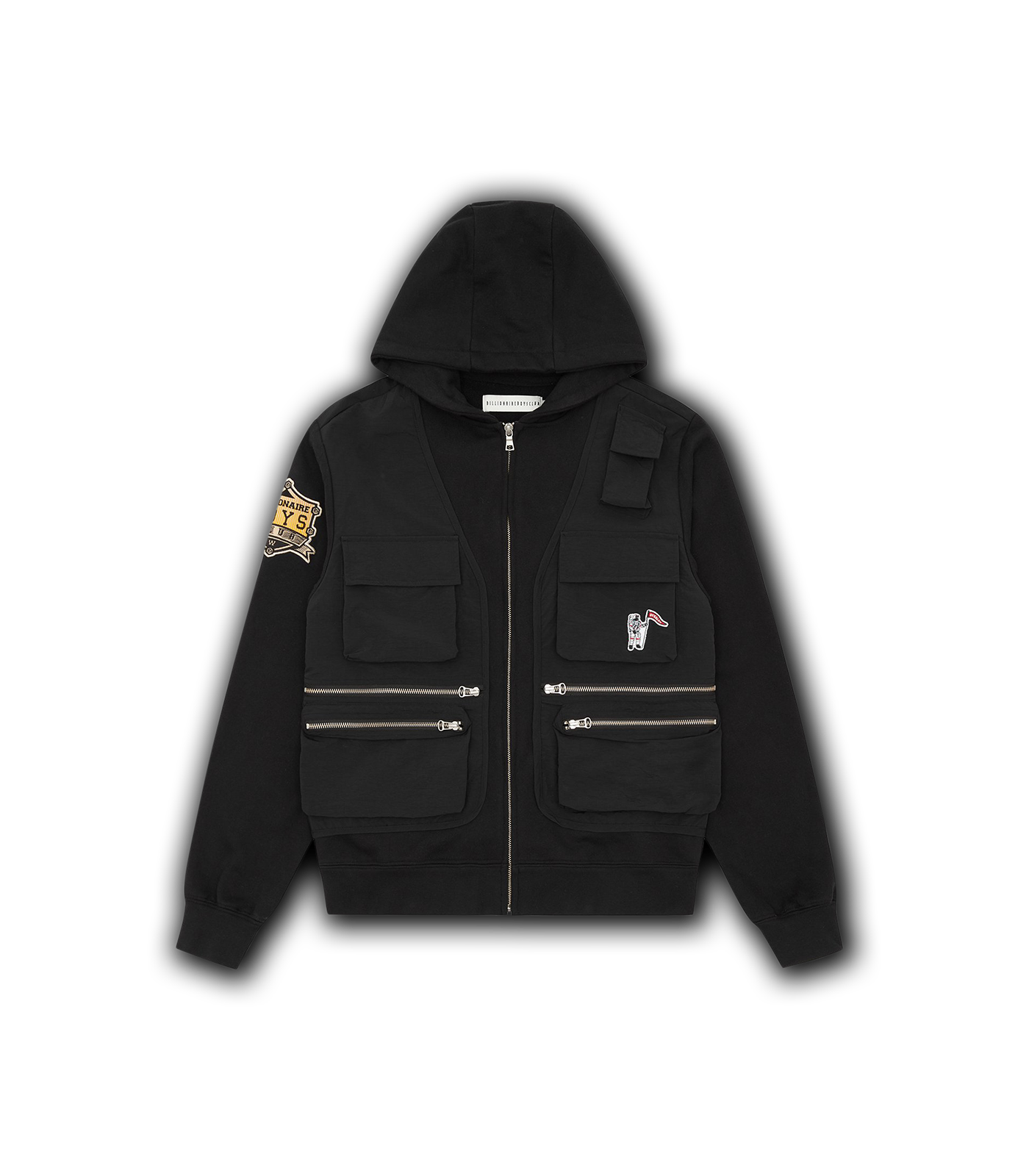TACTICAL ZIP THROUGH HOOD - BLACK