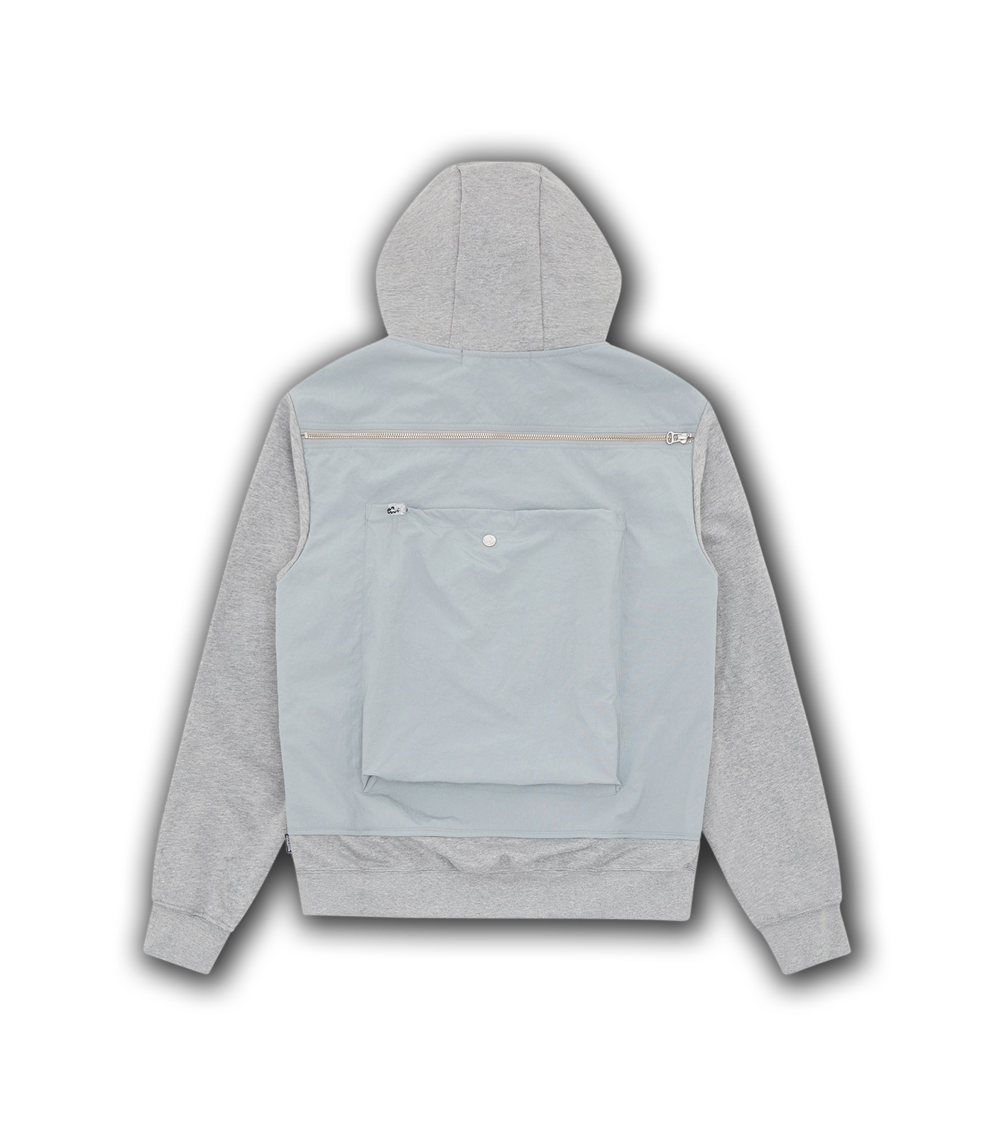 TACTICAL ZIP THROUGH HOOD - HEATHER GREY