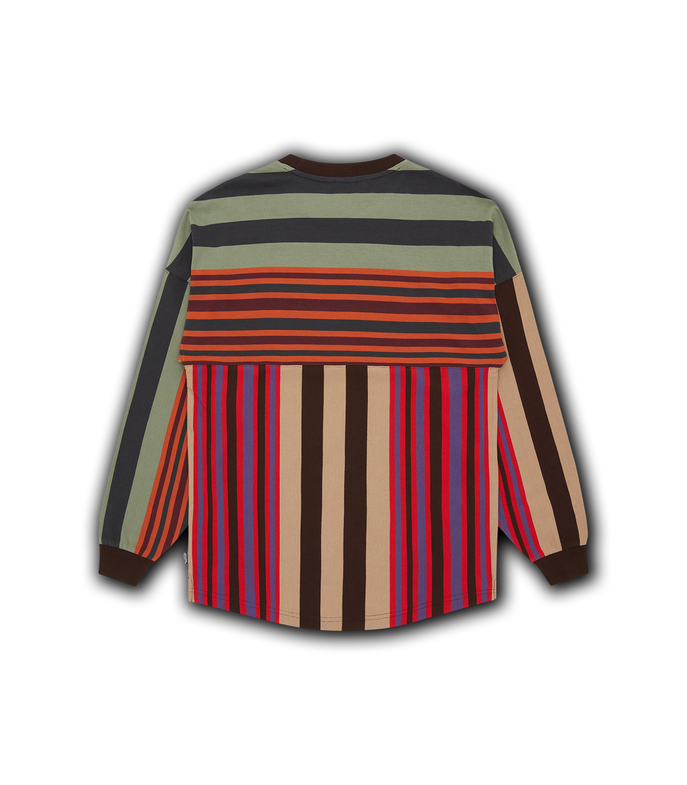 STRIPED L/S T-SHIRT - BROWN