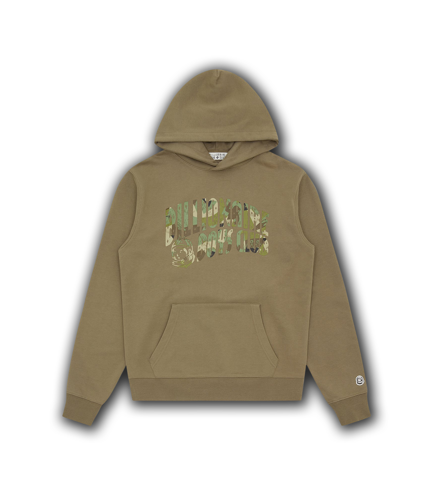 CAMO ARCH LOGO POPOVER HOOD - OLIVE
