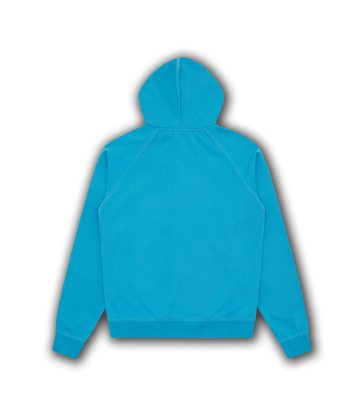 RUBBER PATCH ZIP THROUGH HOOD - AQUA