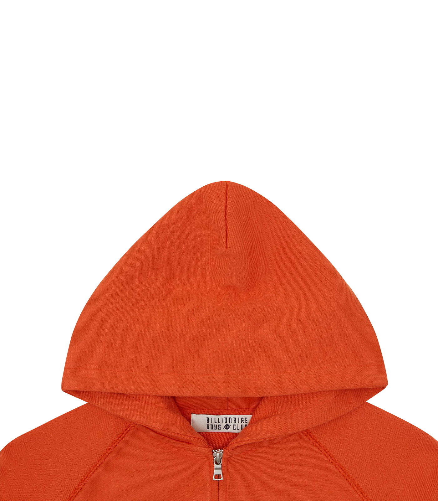 RUBBER PATCH ZIP THROUGH HOOD - ORANGE