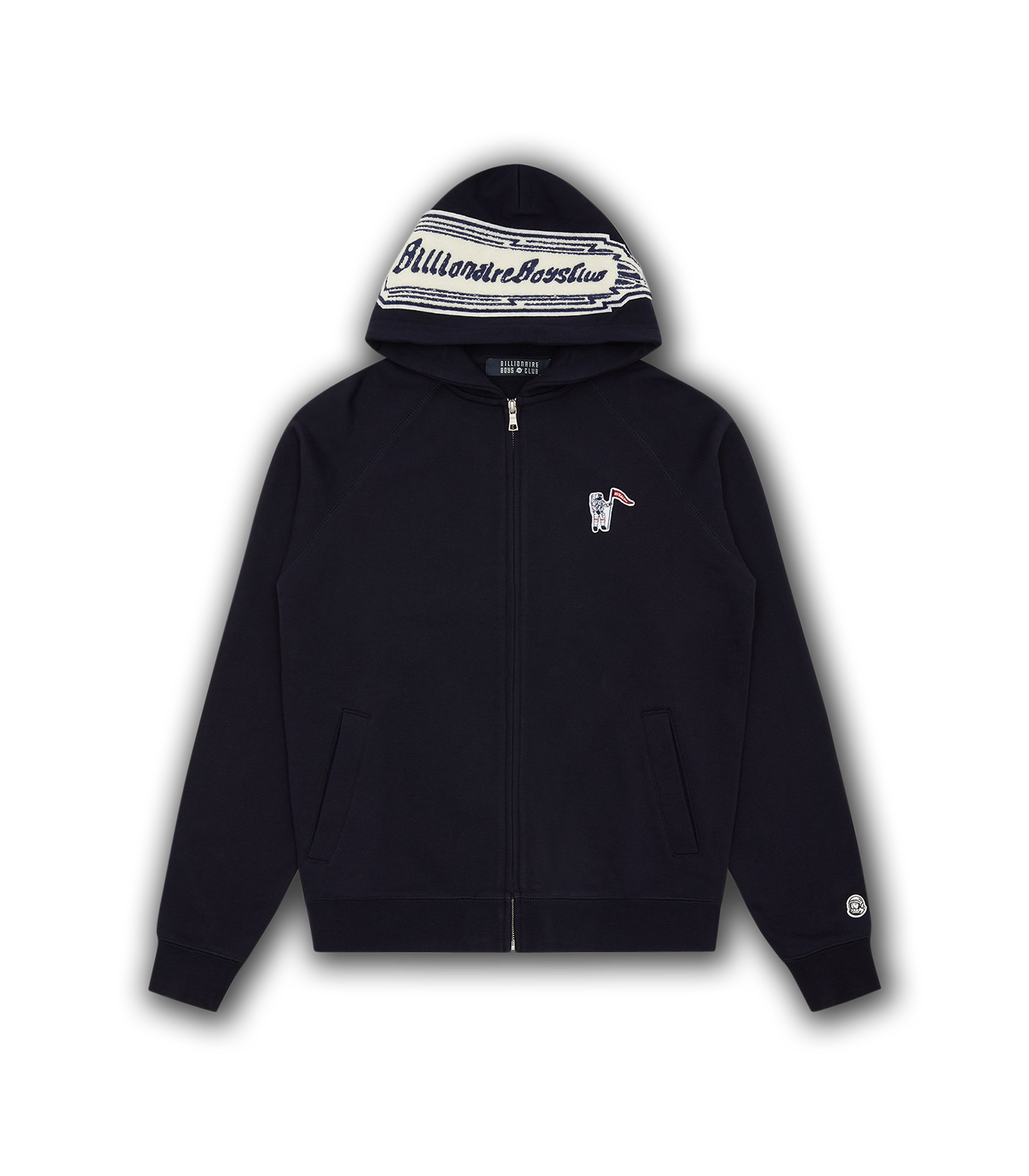 CHENILLE ROCKET PATCH ZIP HOOD - NAVY