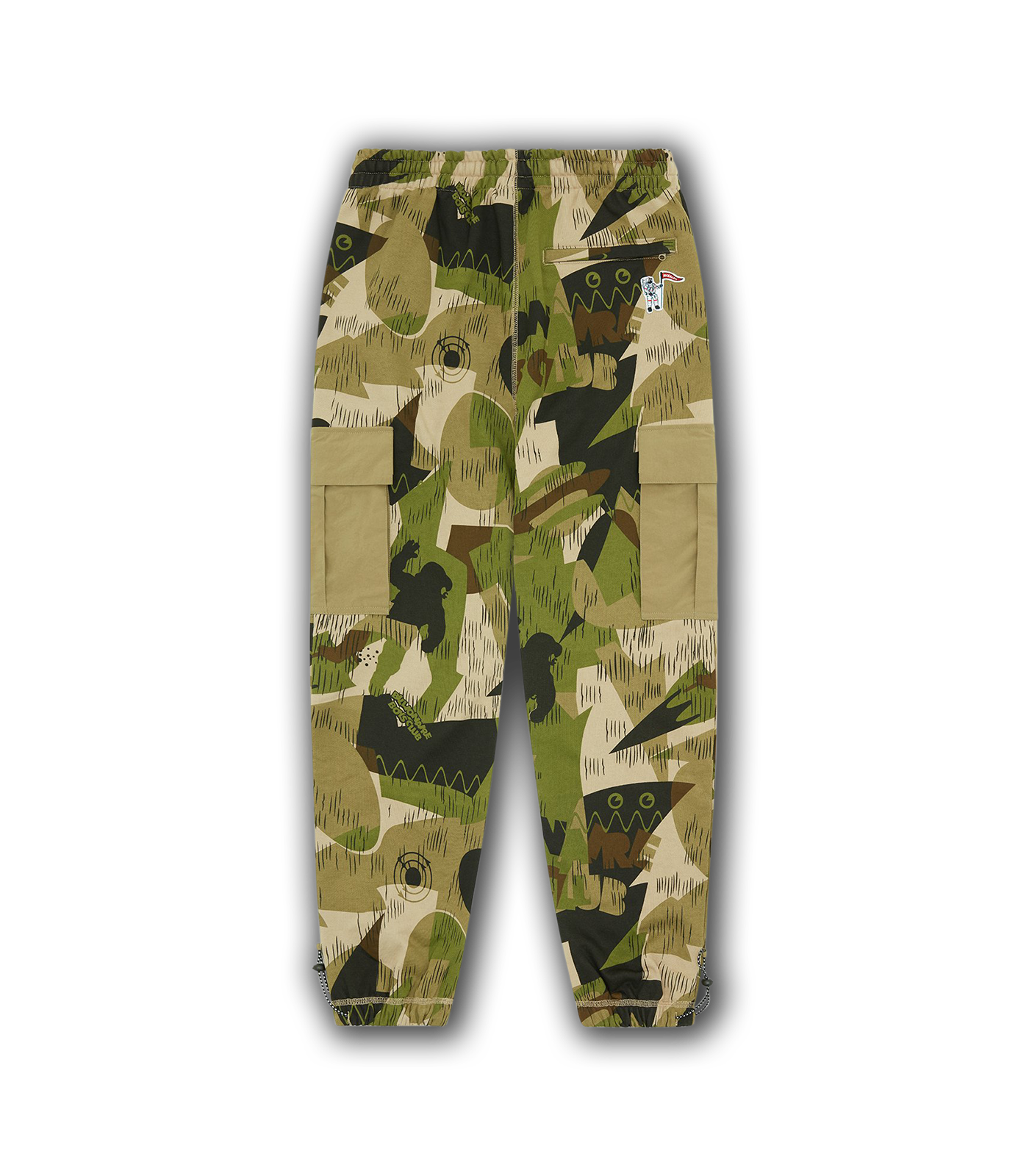 CAMO CARGO SWEATPANTS - GREEN CAMO