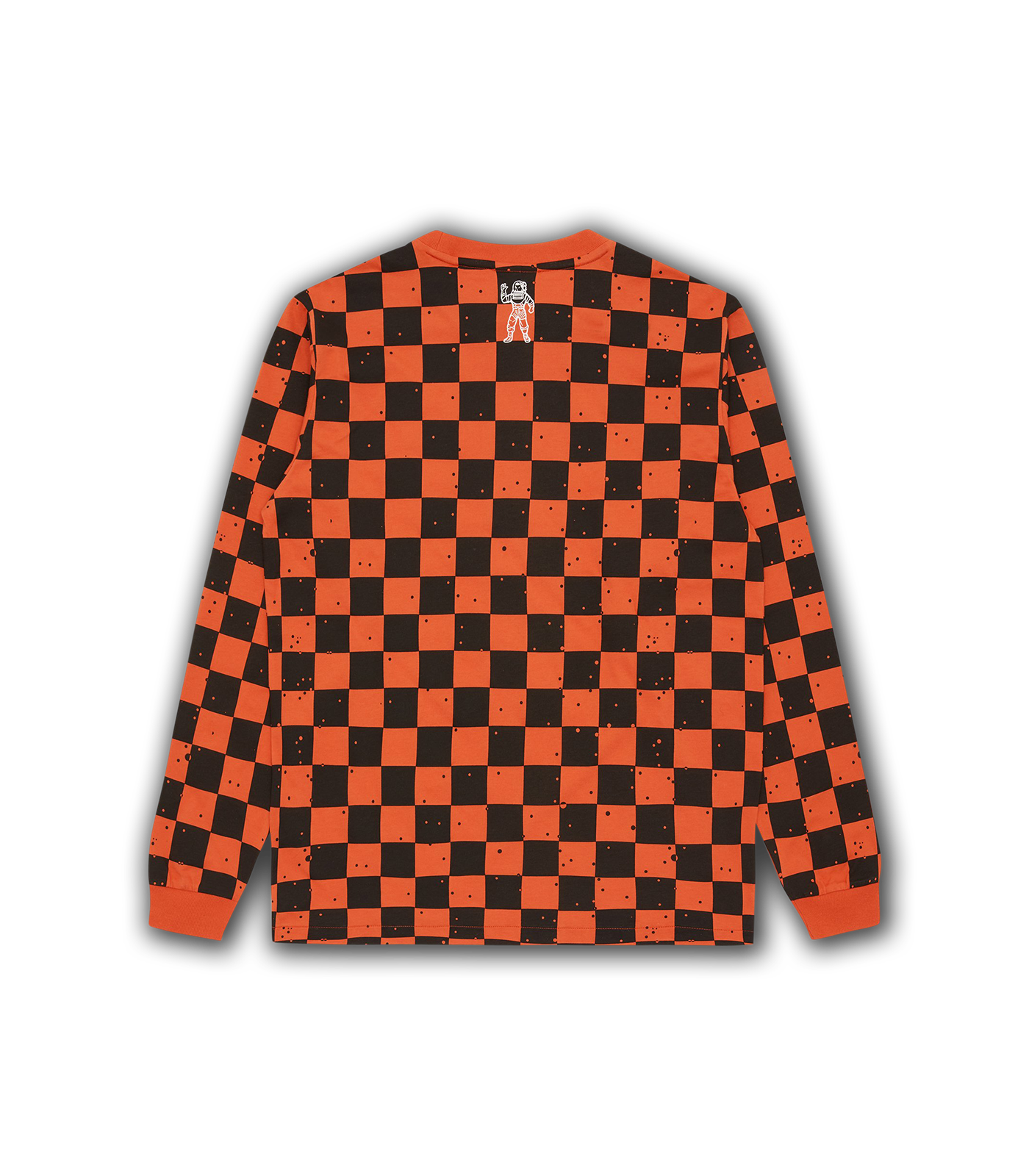 SPACE CHECK L/S T-SHIRT - ORANGE