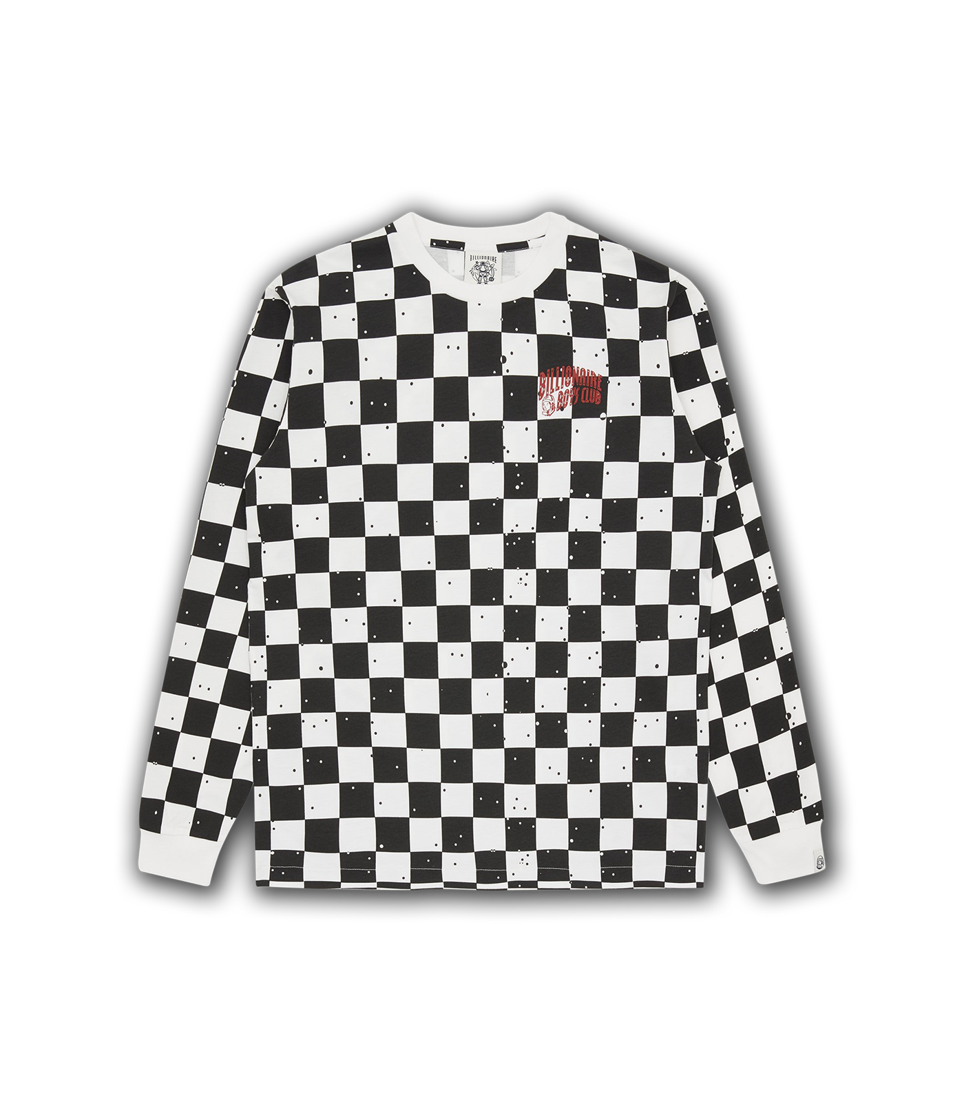 SPACE CHECK L/S T-SHIRT - WHITE