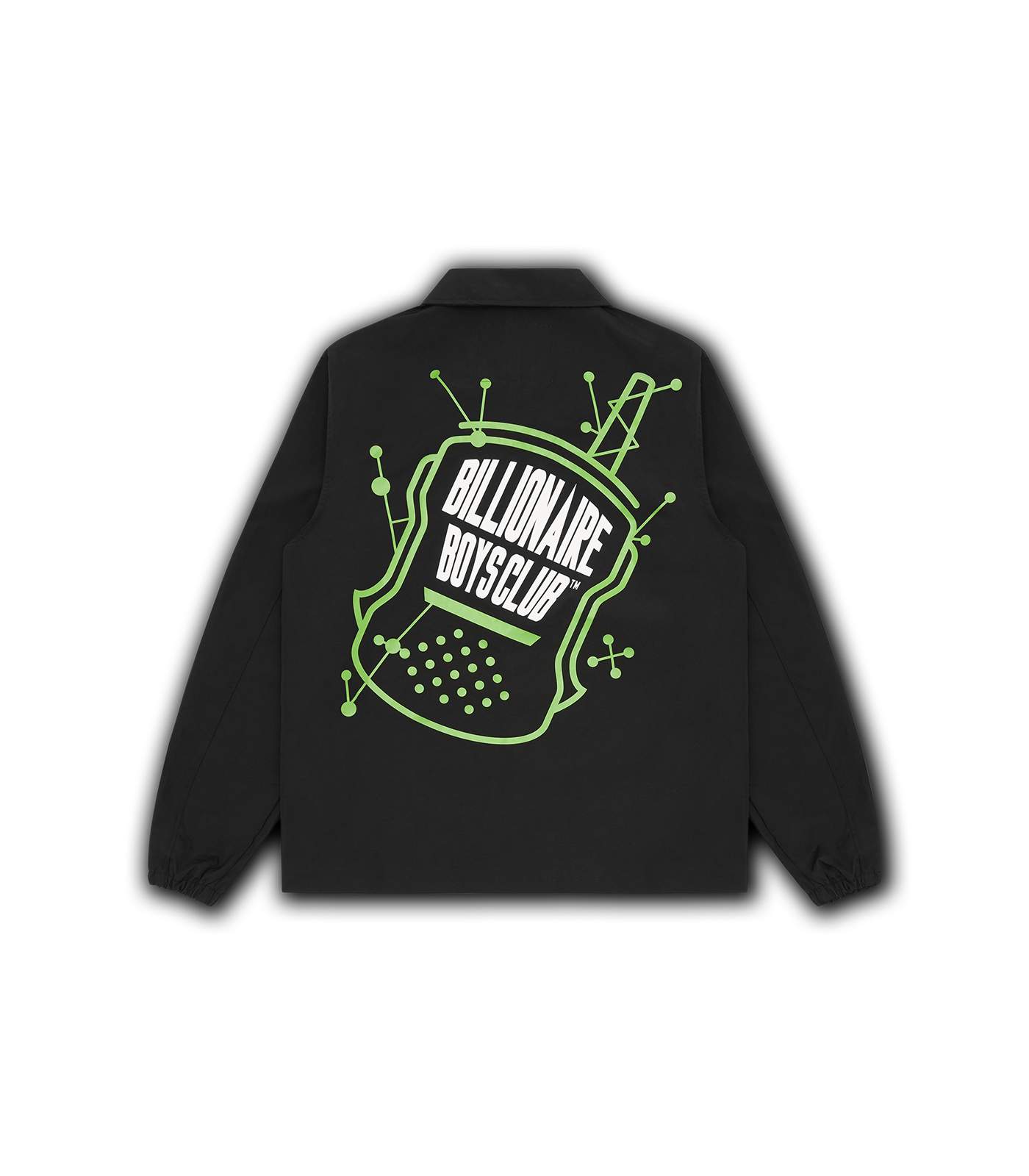 RADIO GRAPHIC NYLON JACKET - BLACK