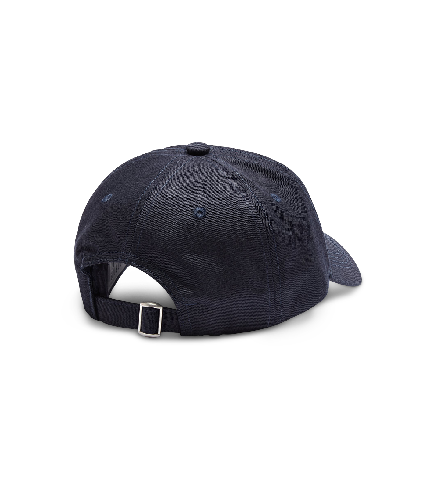 EMBROIDERED CURVED VISOR CAP - NAVY