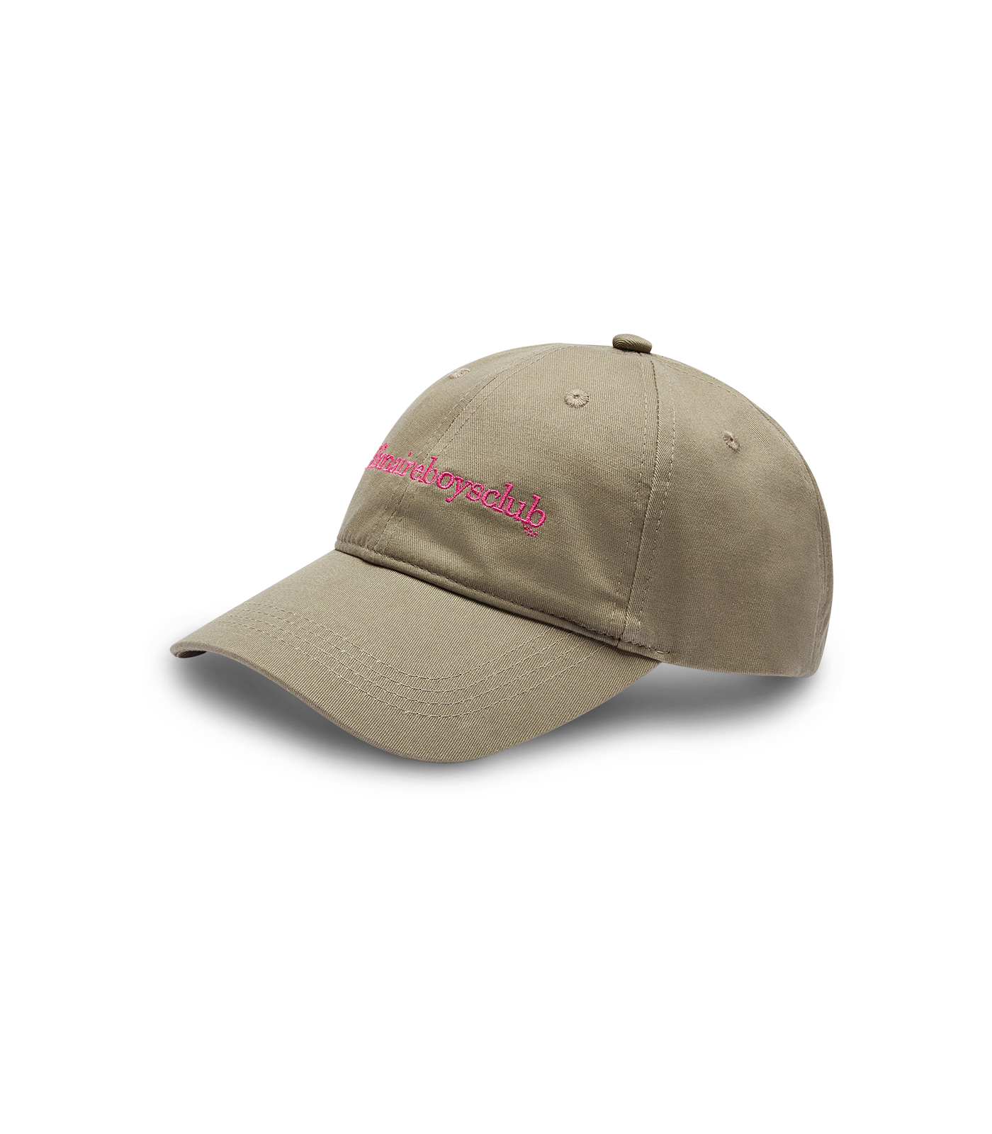 EMBROIDERED CURVED VISOR CAP - OLIVE