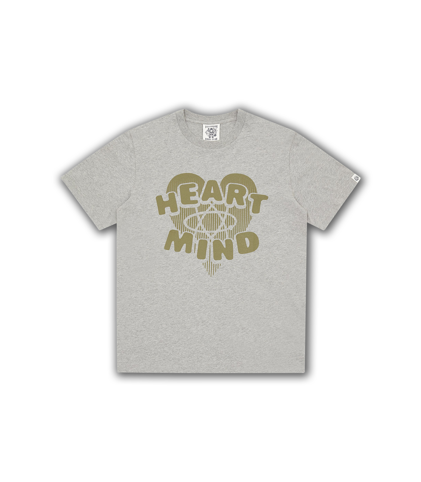 HEART & MIND GRAPHIC T-SHIRT - HEATHER GREY