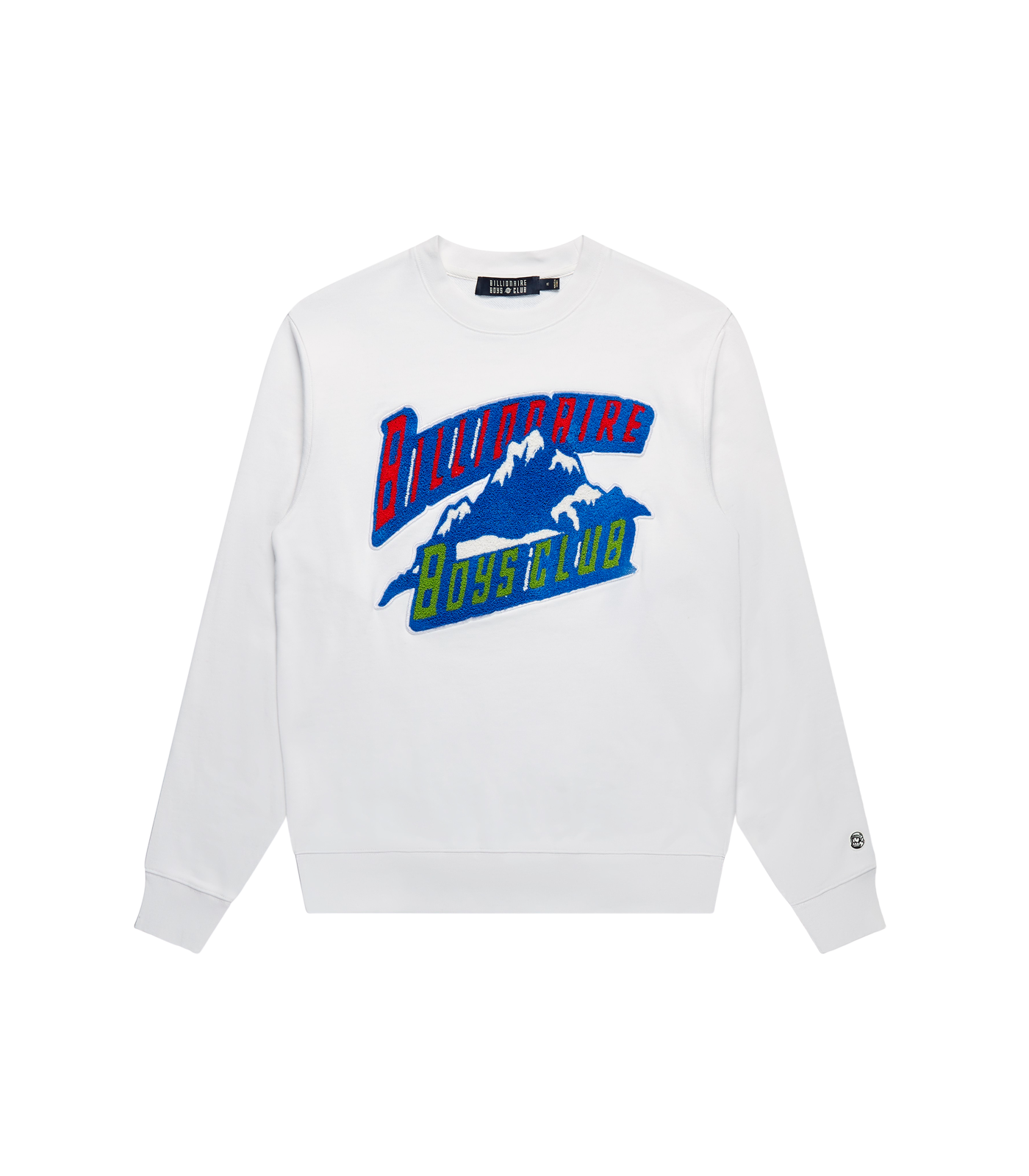 CHENILLE MOUNTAIN LOGO CREWNECK - WHITE