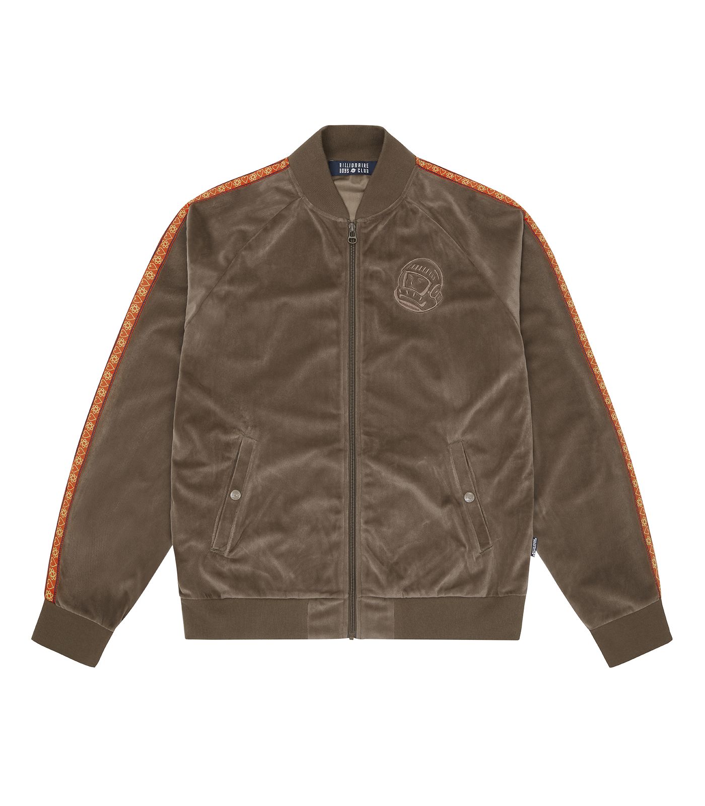 HEART & MIND TAPED TRACK TOP - BROWN