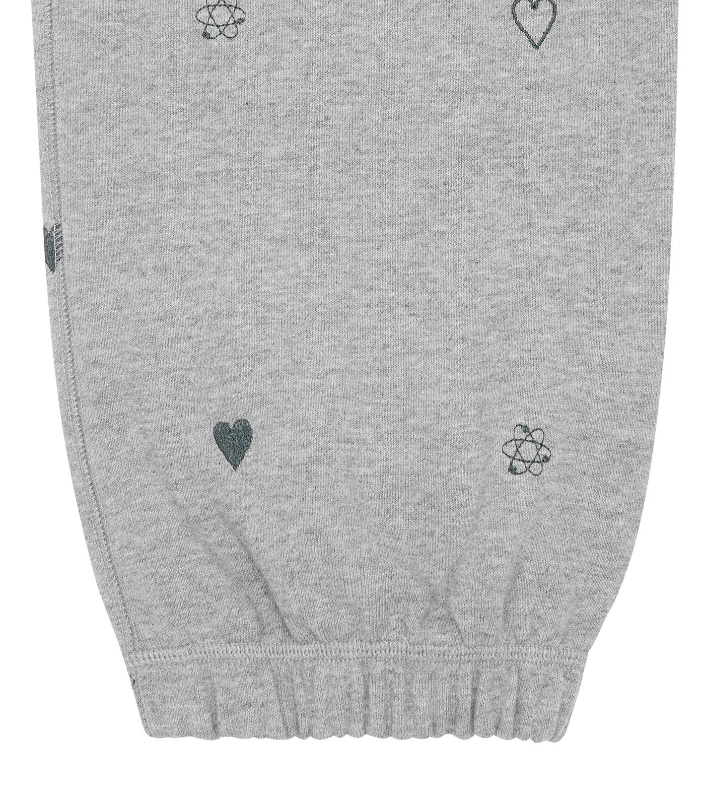 HEART & MIND MONOGRAM EMBROIDERED SWEAT PANT - GREY