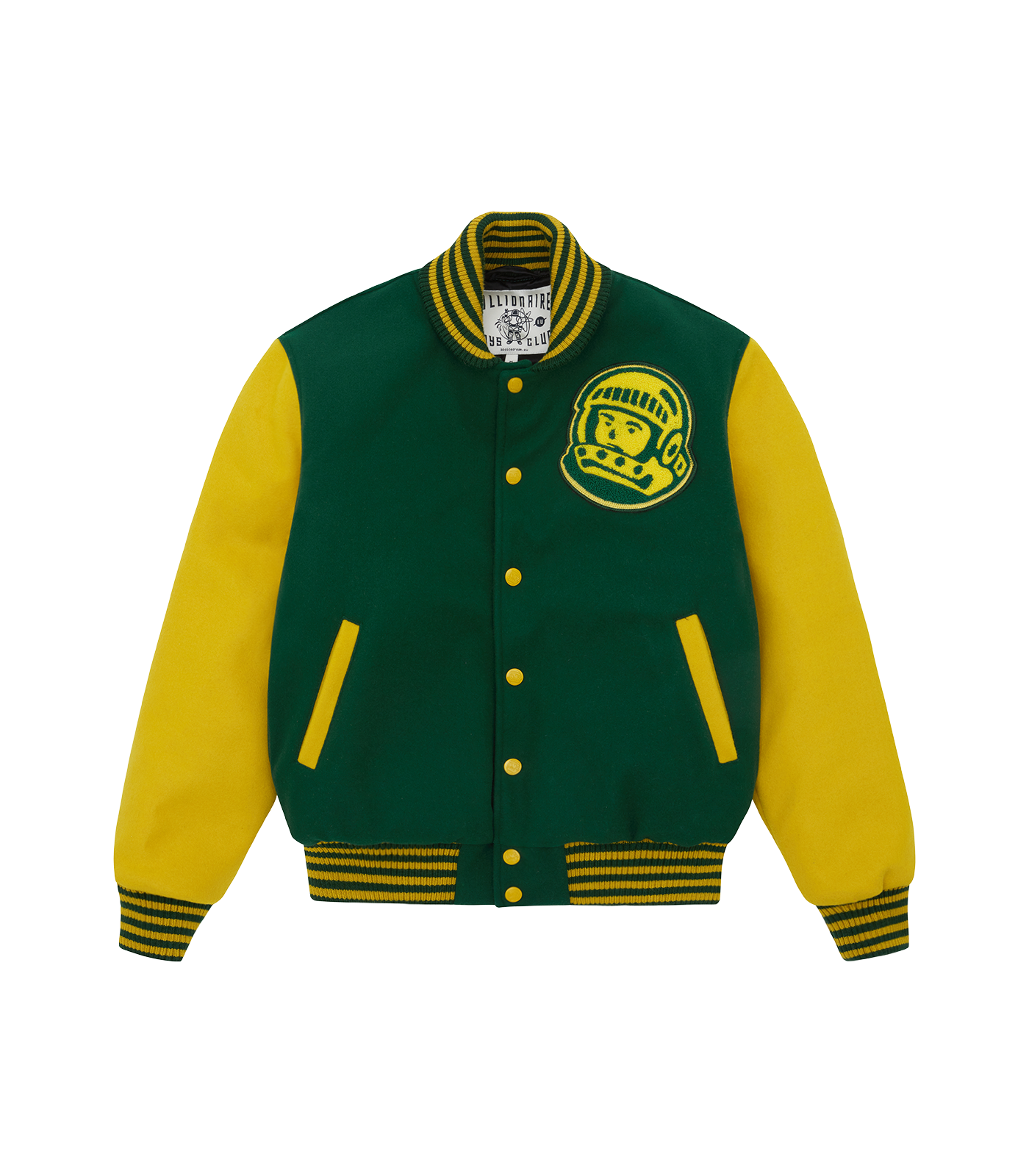 ASTRO VARSITY JACKET - GREEN/YELLOW
