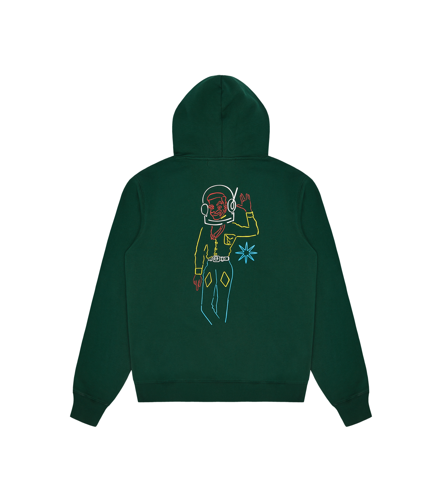SPACE COWBOY POPOVER HOOD - DARK GREEN