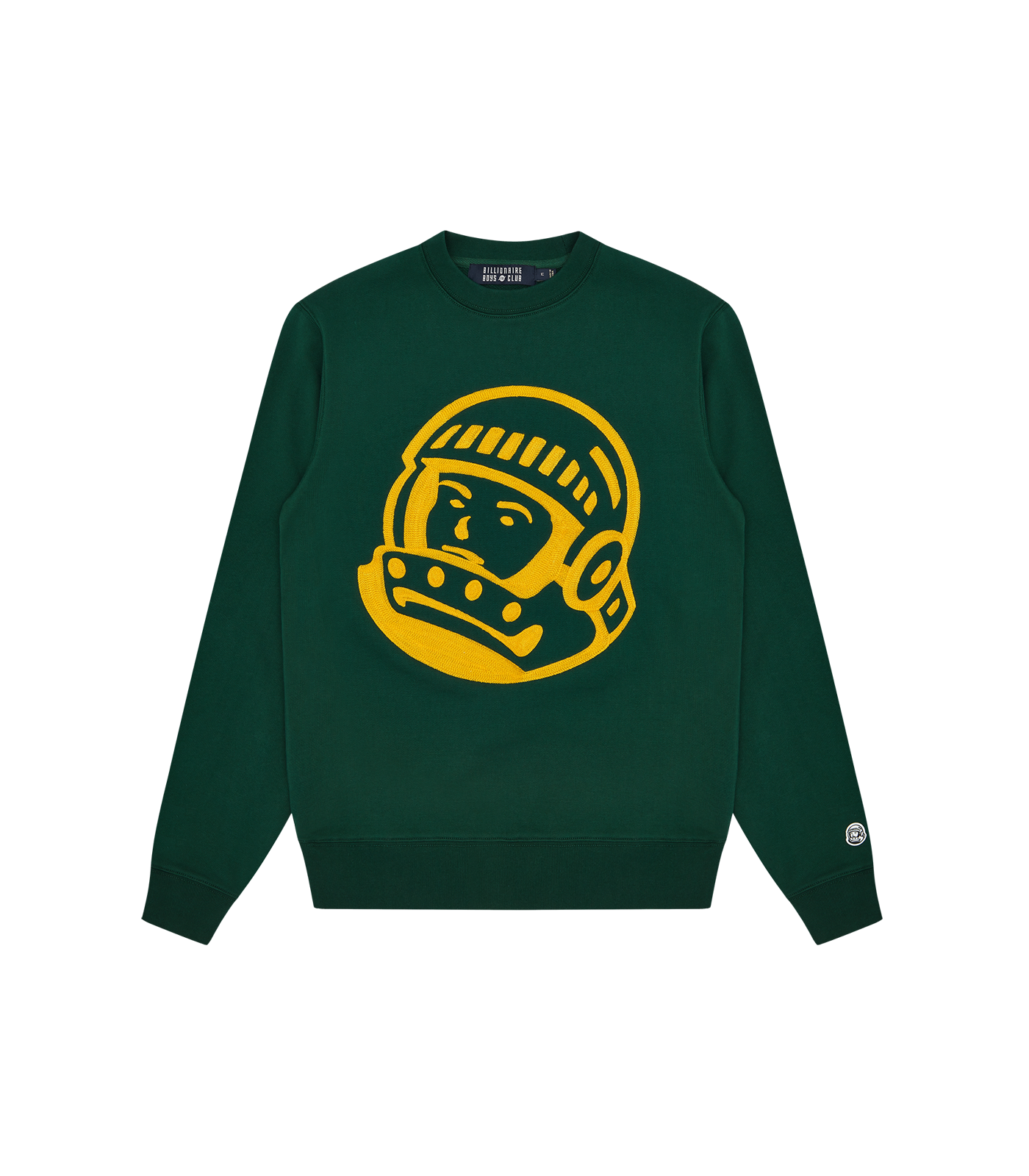 CHAINSTITCH ASTRO LOGO CREWNECK - DARK GREEN