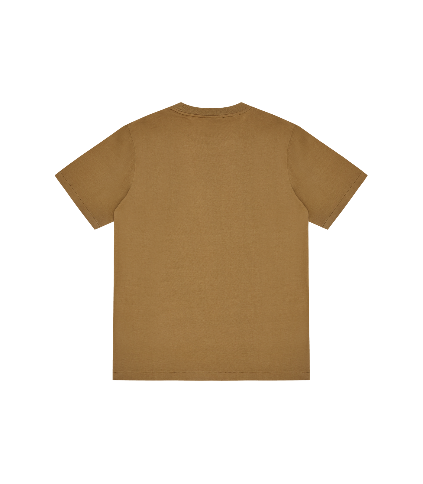 GEOMETRIC ARCH LOGO T-SHIRT - BROWN