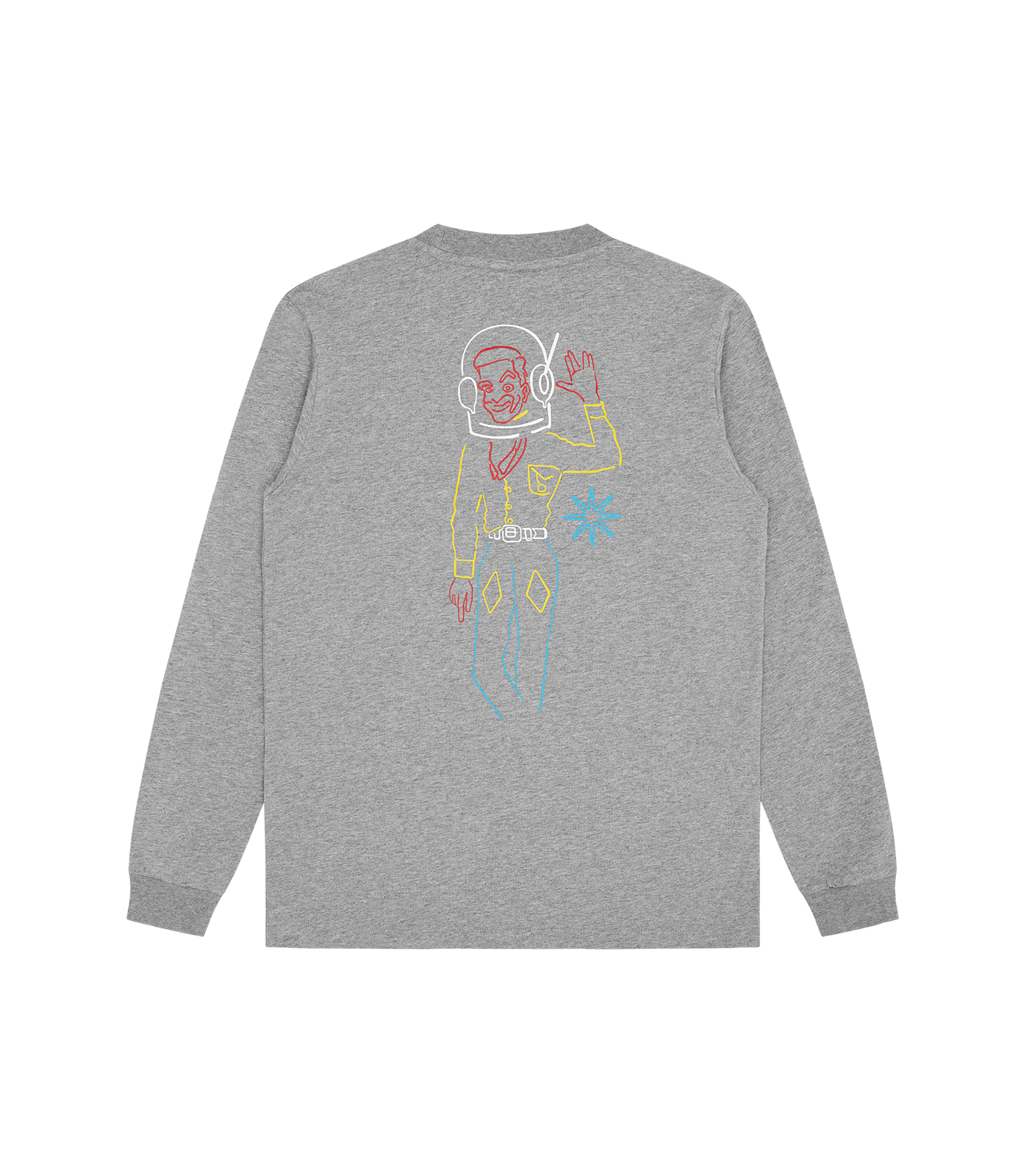 SPACE COWBOY L/S T-SHIRT - HEATHER GREY