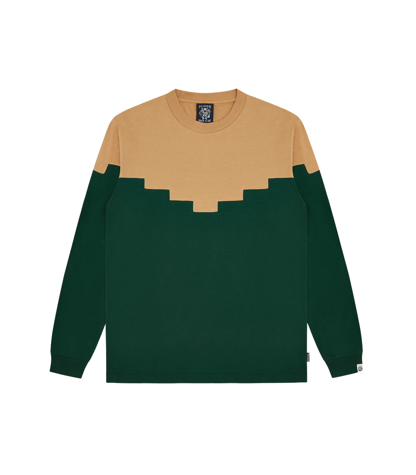CONTRAST L/S T-SHIRT - DARK GREEN