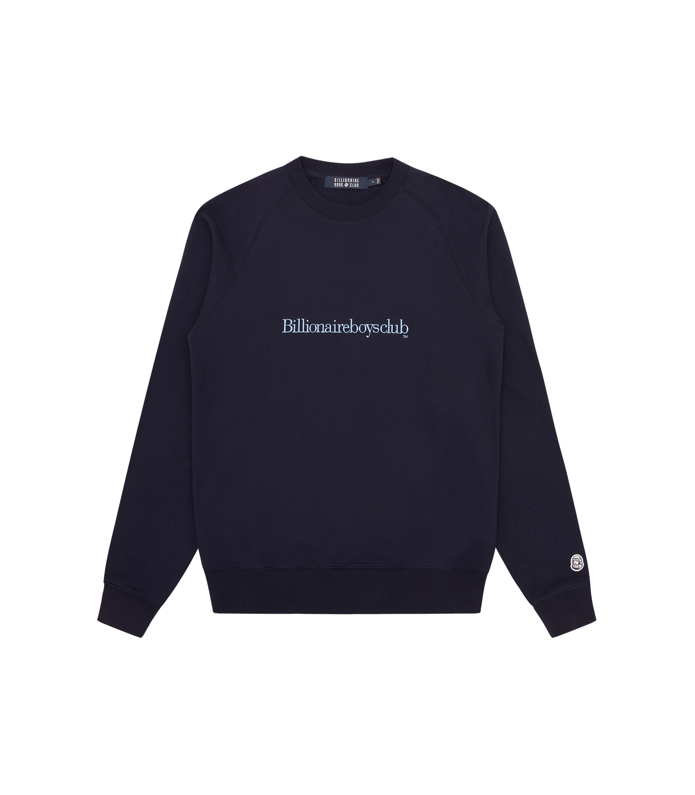 EMBROIDERED LOGO CREWNECK - NAVY/BLUE