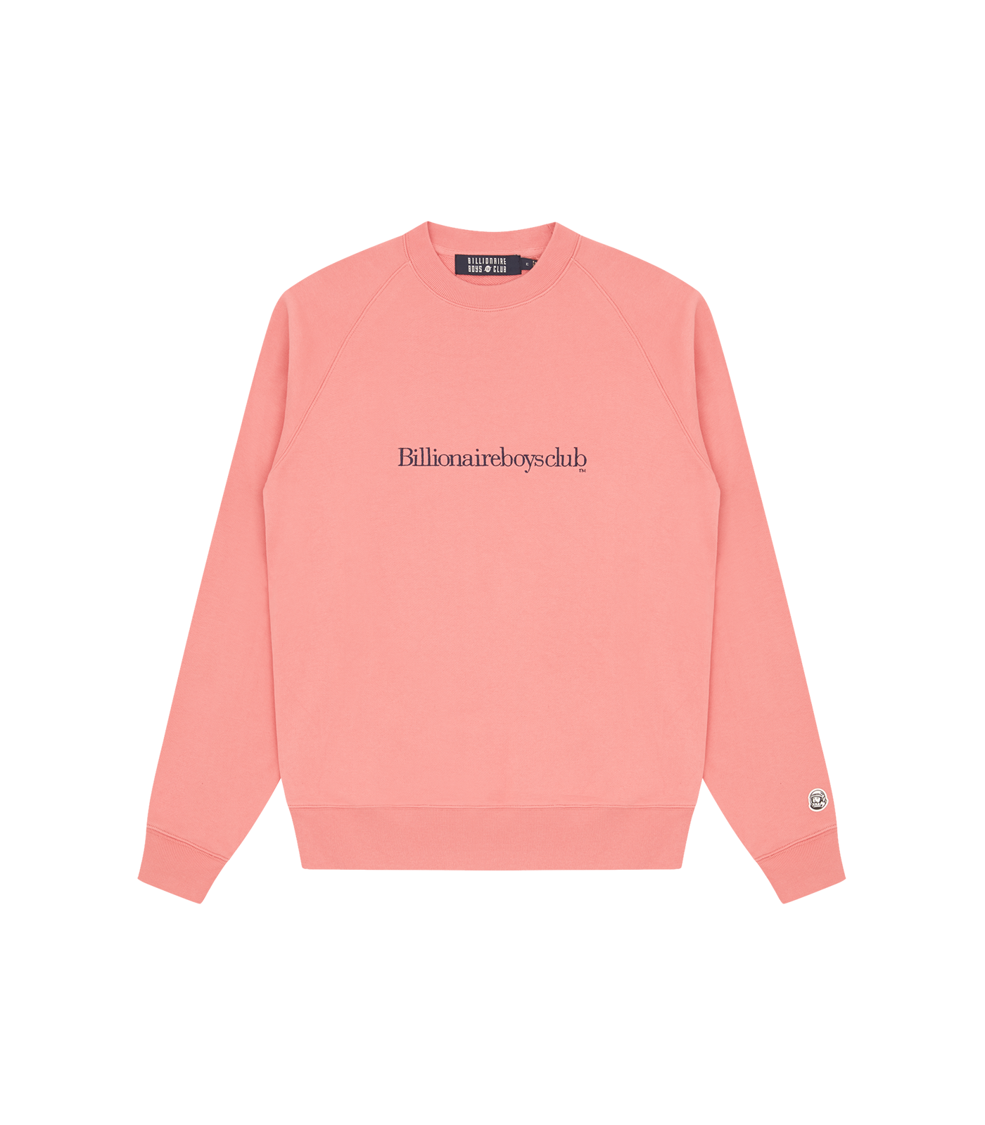 EMBROIDERED LOGO CREWNECK - PINK/NAVY