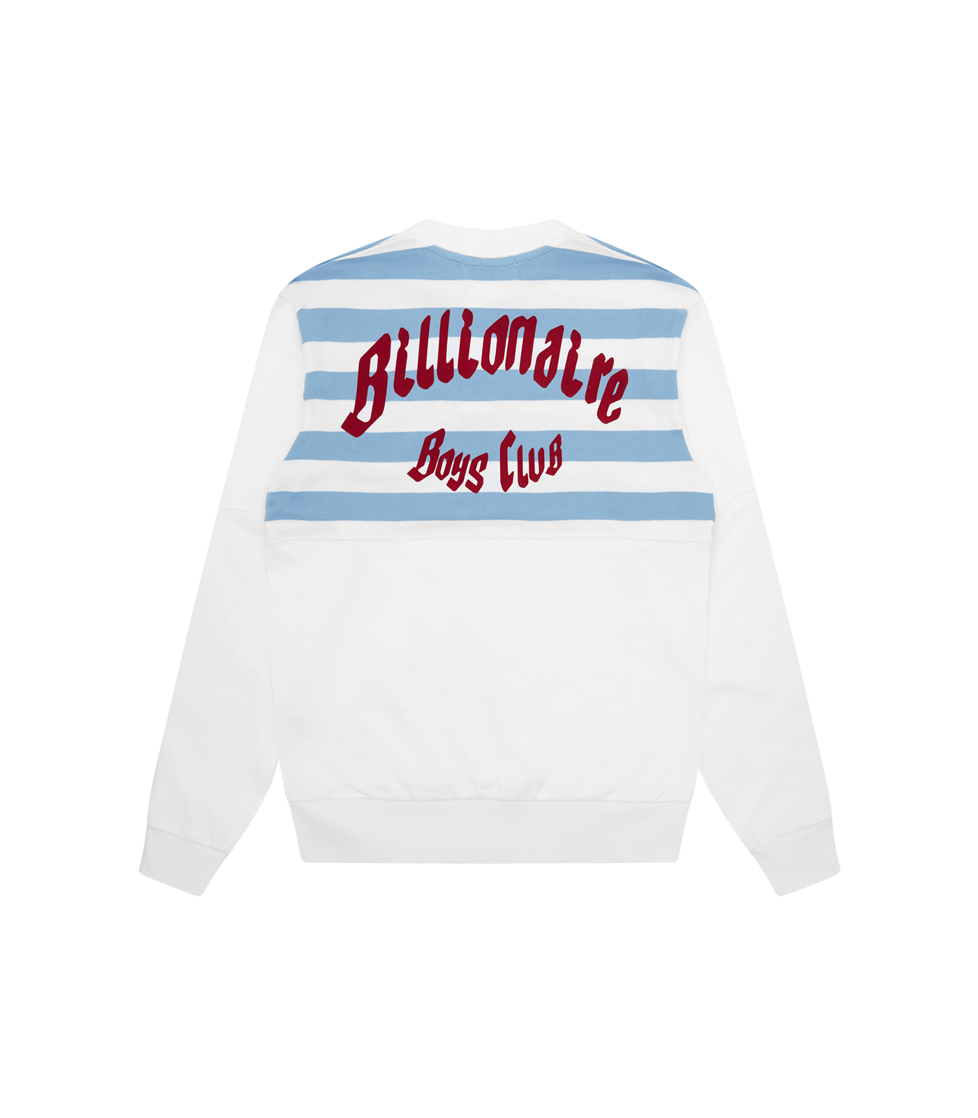 CUT & SEW BUTTON UP CREWNECK - WHITE