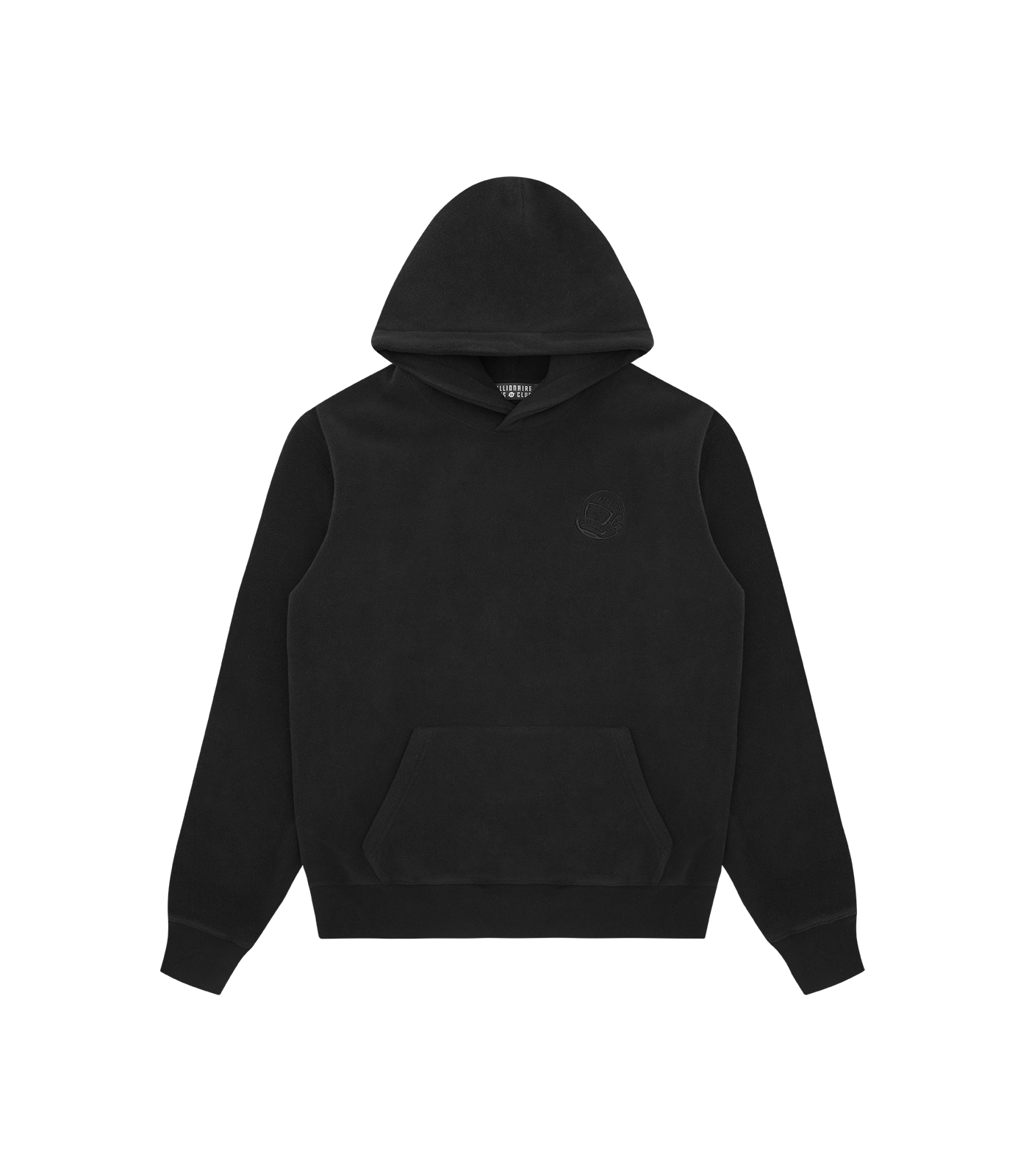HELMET FLEECE POPOVER HOOD - BLACK