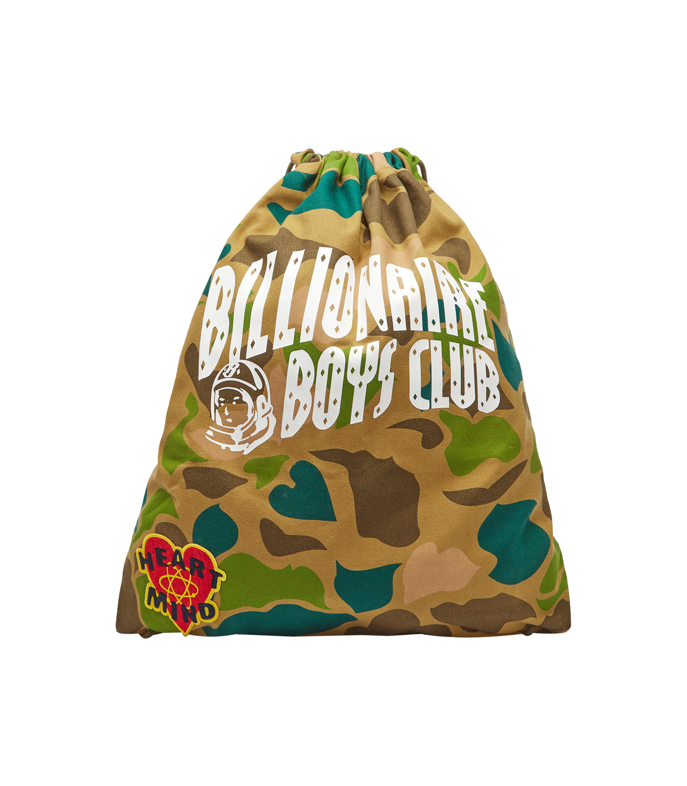 CAMO ALL OVER PRINT DRAWSTRING BAG