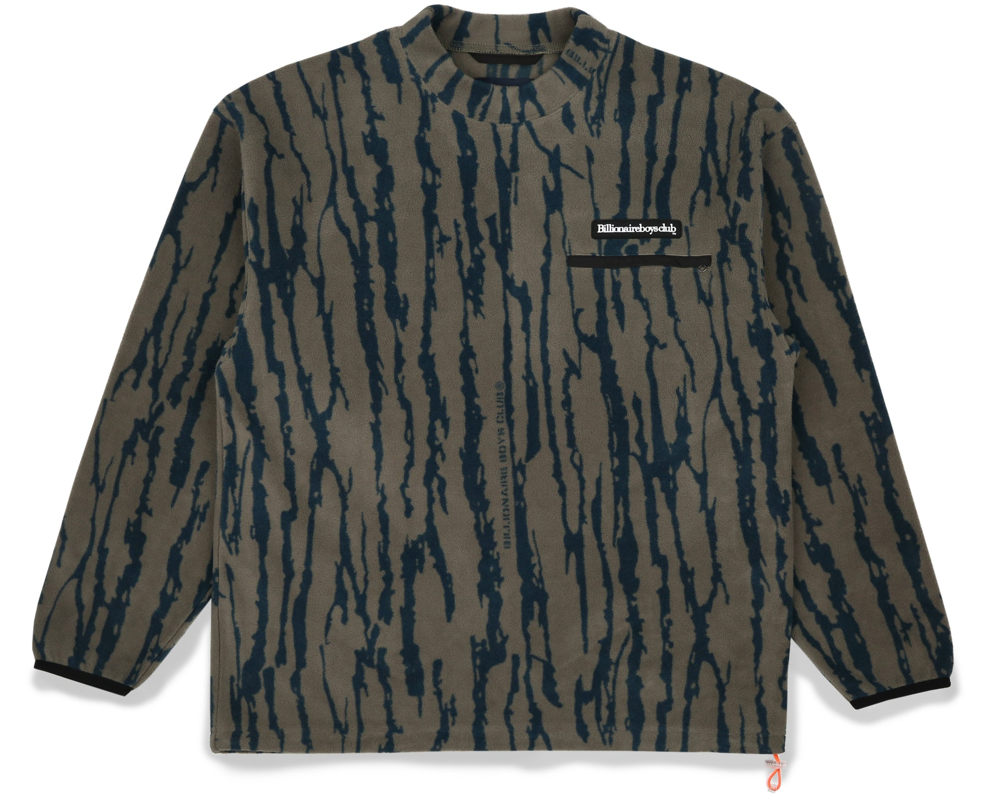 BARK CAMO FLEECE CREWNECK - OLIVE