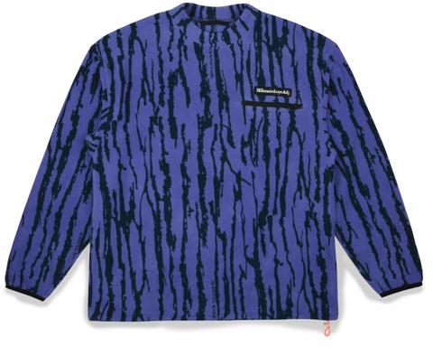 Billionaire Boys Club Fall '19 BARK CAMO FLEECE CREWNECK - PURPLE