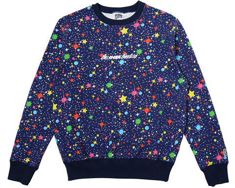 Billionaire Boys Club STARFIELD AO CREWNECK - BLACK/MULTI