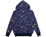 Billionaire Boys Club STARFIELD AO ZIP THROUGH HOODIE - BLACK/MULTI
