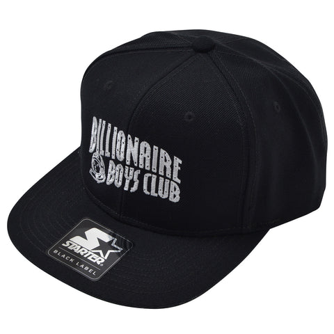 BBCICECREAM BILLIONAIRE BOYS CLUB × STARTER BLACK LABEL SNAPBACK CAP BLACK