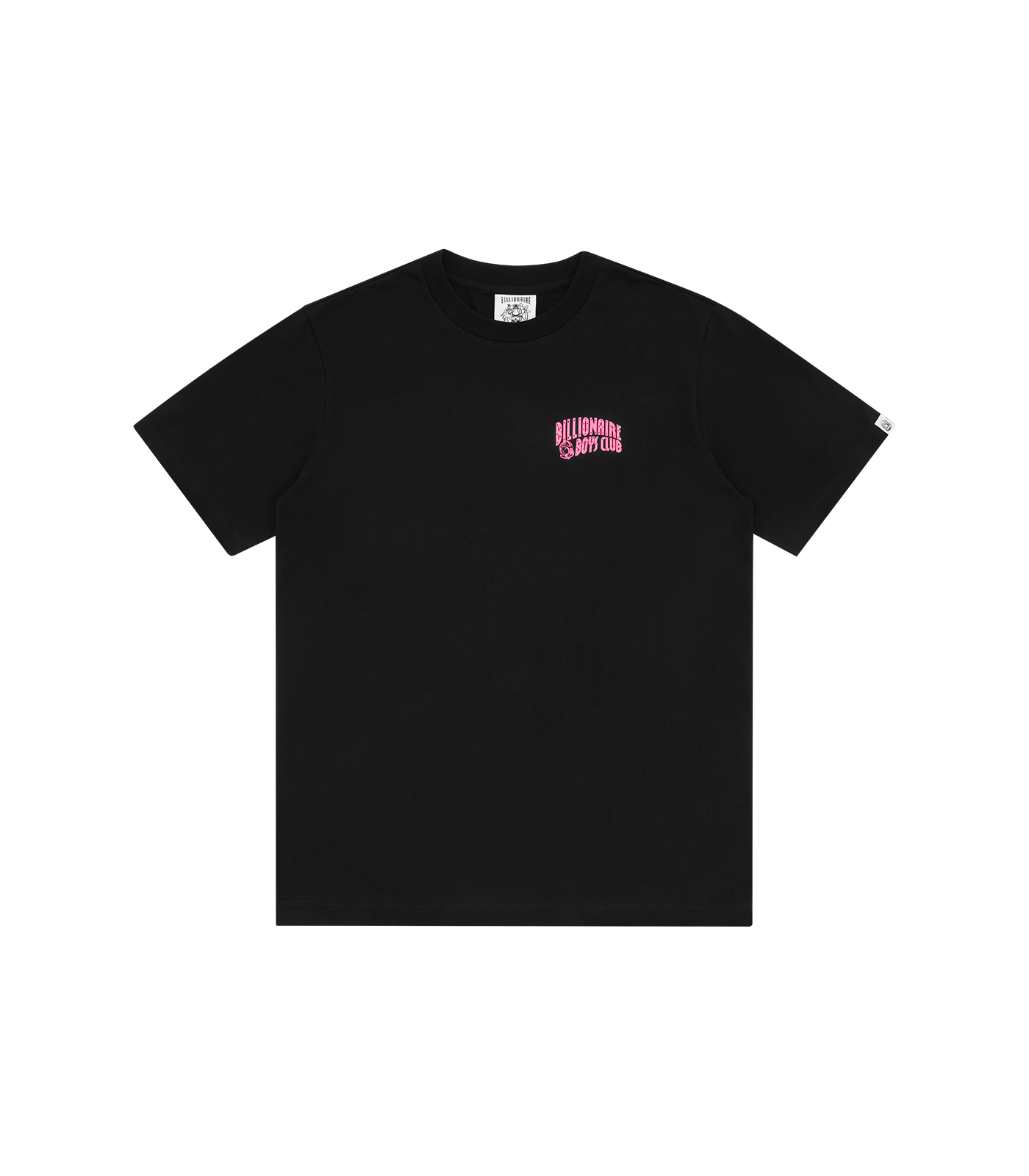 SMALL ARCH LOGO HIGHLIGHTER T-SHIRT - BLACK/PINK