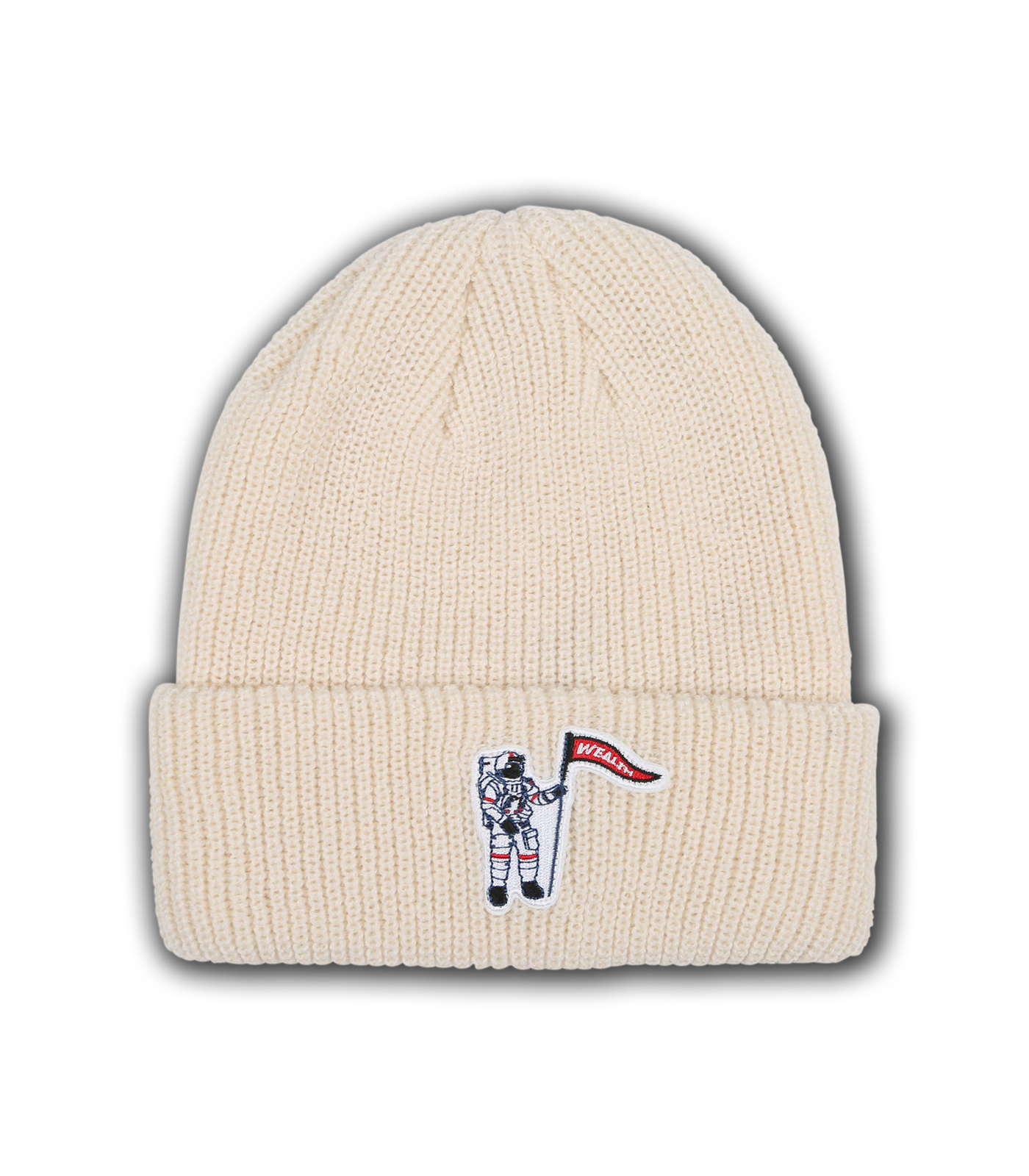 WEALTH PATCH BEANIE - WHITE
