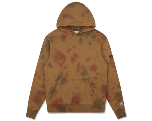 BLEACHED STRAIGHT LOGO POPOVER HOOD - BROWN