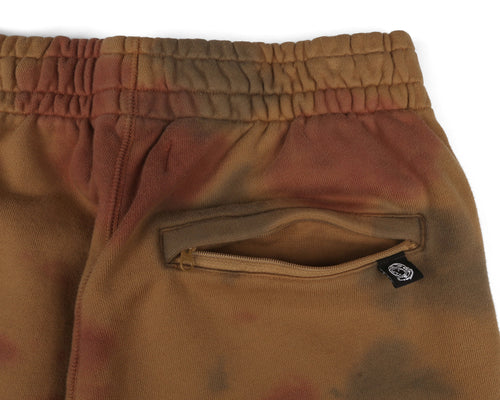 BLEACHED SWEATPANT - BROWN