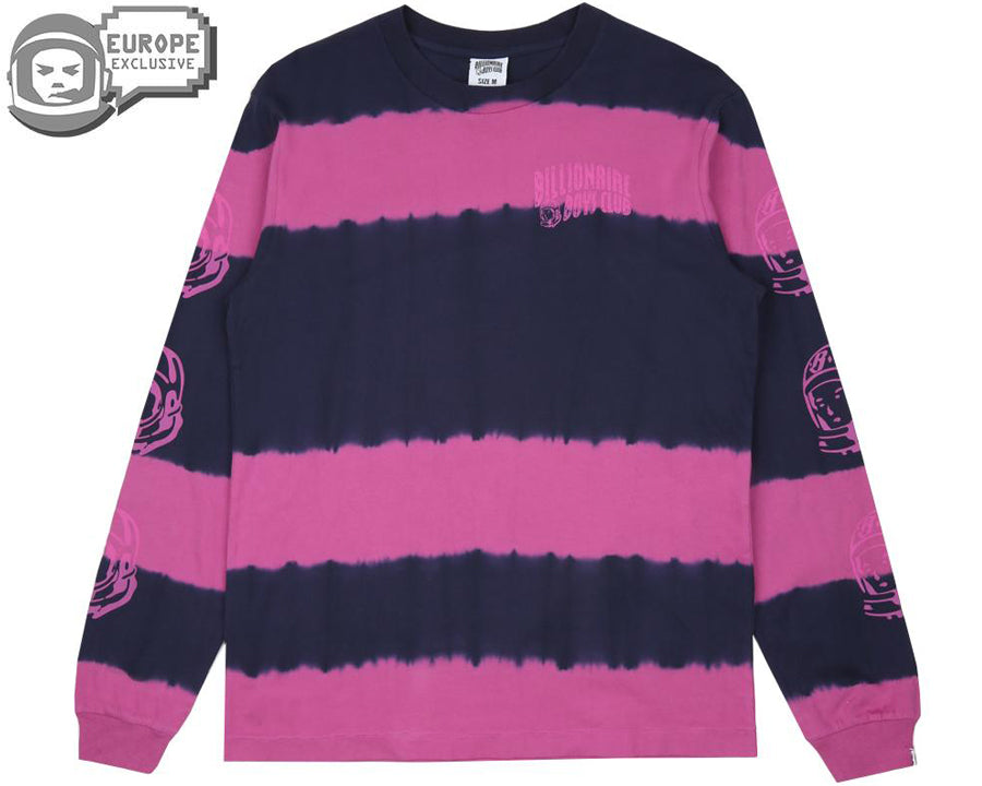 BLEACH STRIPED L/S T-SHIRT - BLUE