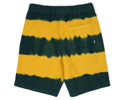BLEACH STRIPED SHORT - YELLOW